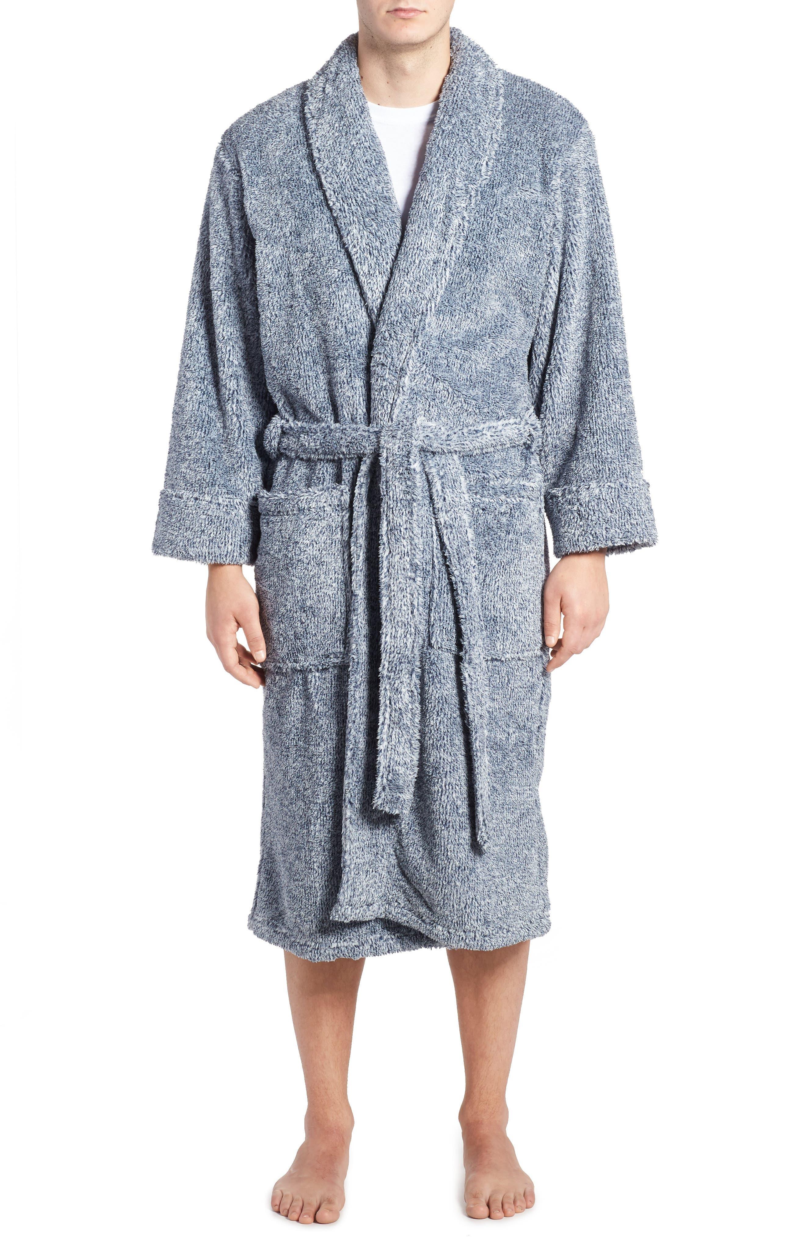 Heather Fleece Robe, Main, color, 410