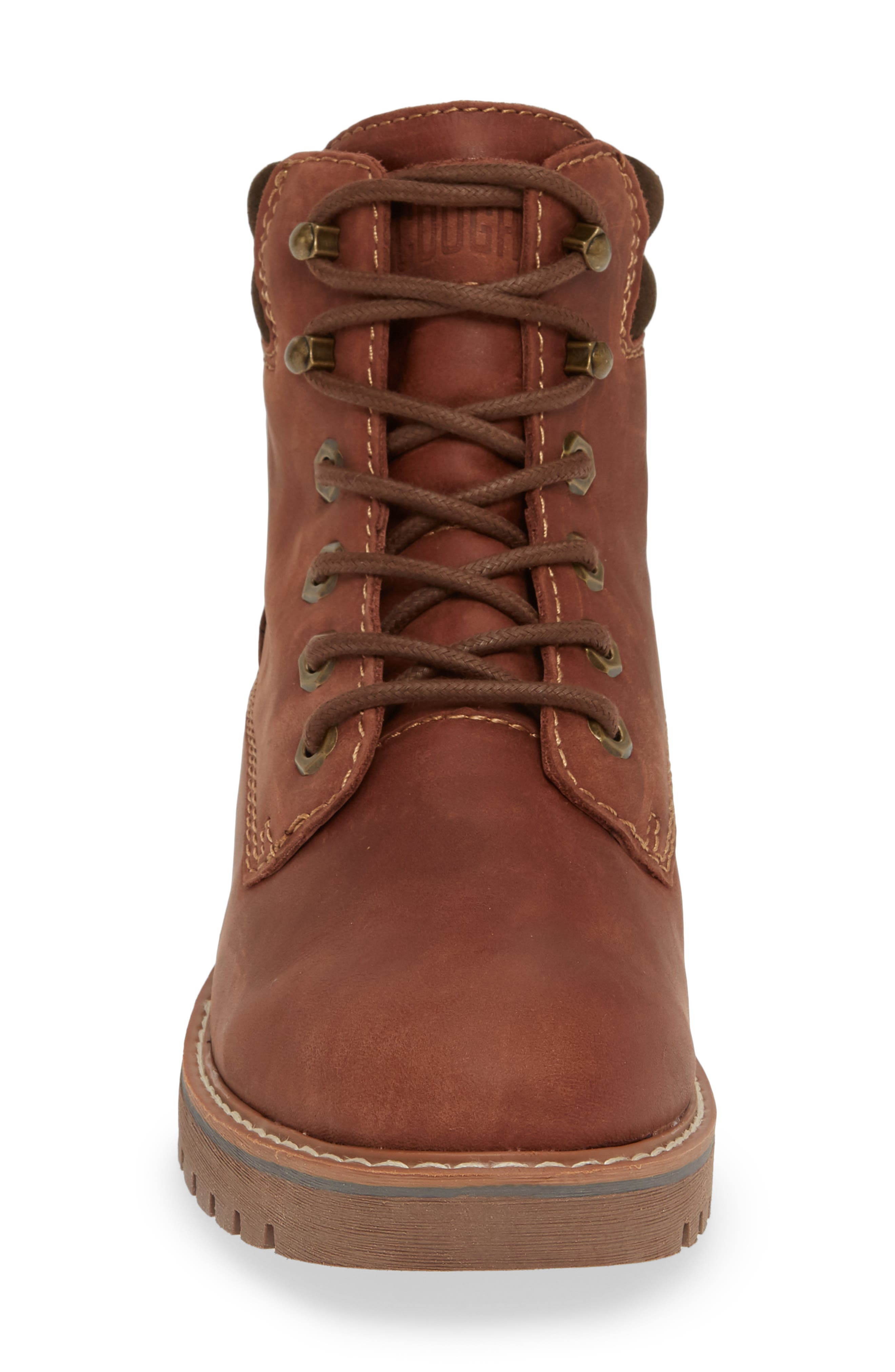 Heston Waterproof Insulated Hiking Boot,                             Alternate thumbnail 4, color,                             BROWN LEATHER