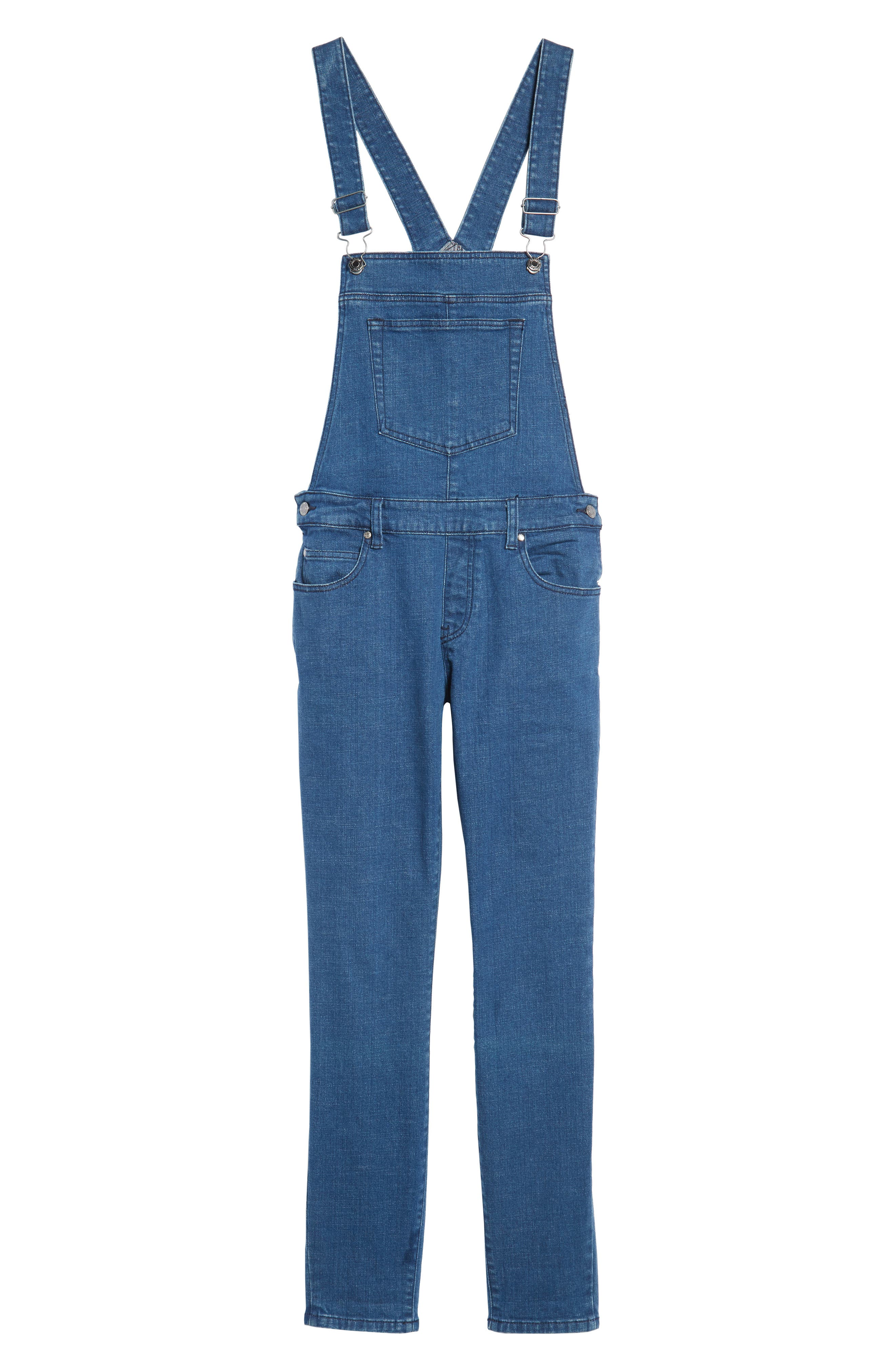 Ira Skinny Fit Overalls,                             Alternate thumbnail 6, color,                             400