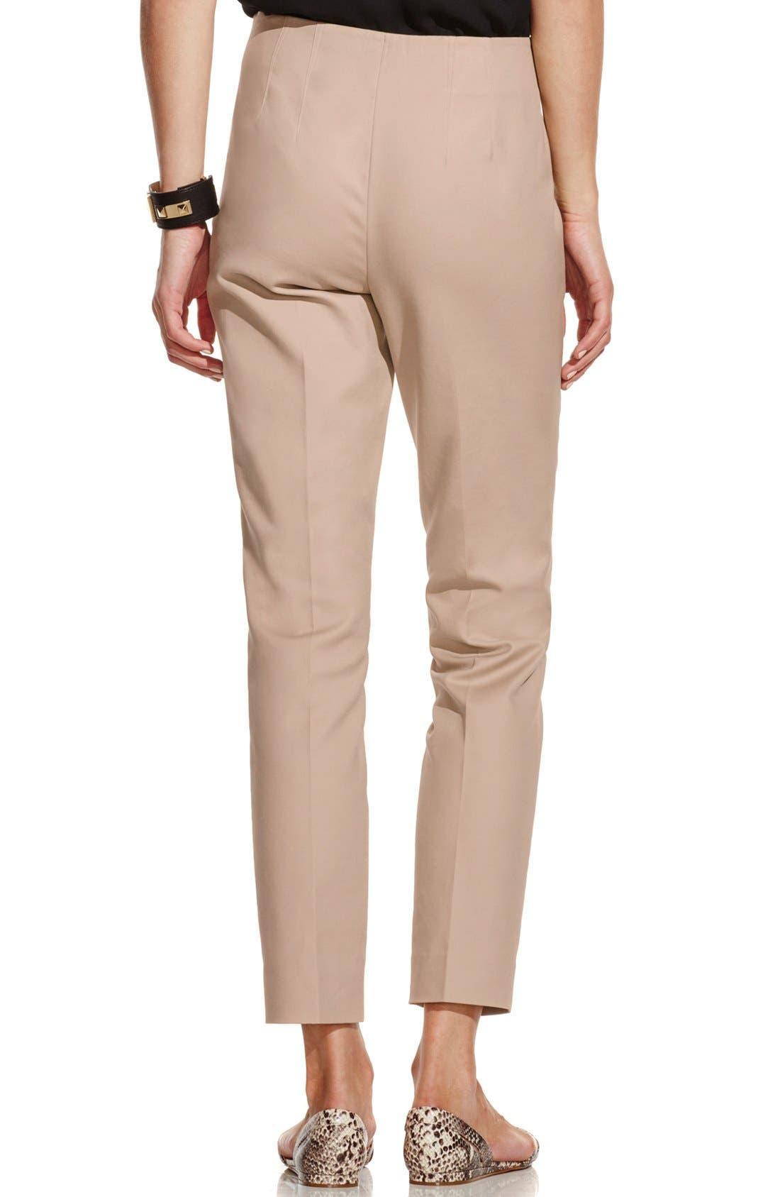 Side Zip Double Weave Pants,                             Alternate thumbnail 27, color,