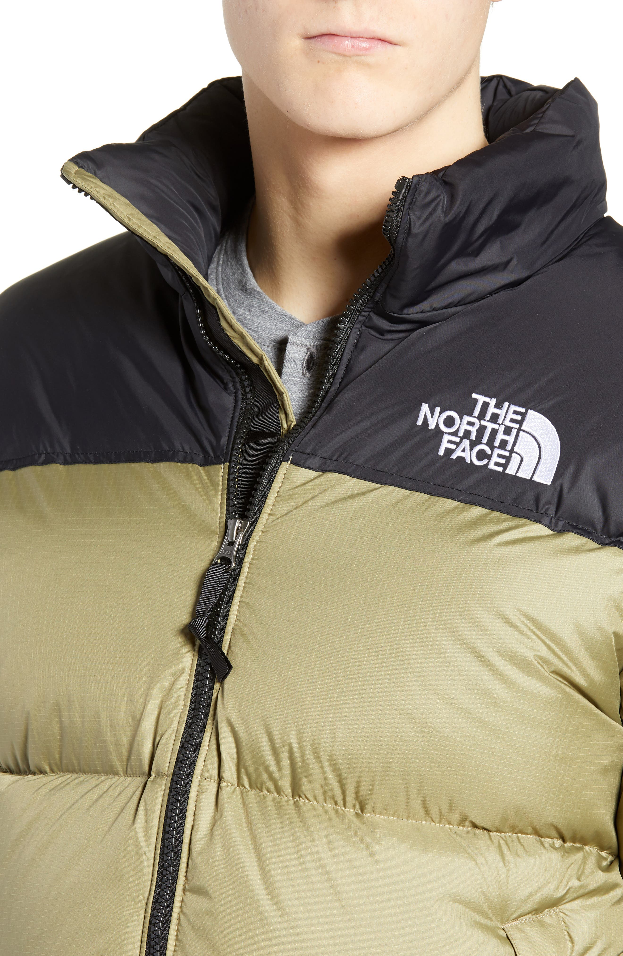 Nuptse 1996 Packable Quilted Down Jacket,                             Alternate thumbnail 4, color,                             TUMBLEWEED GREEN