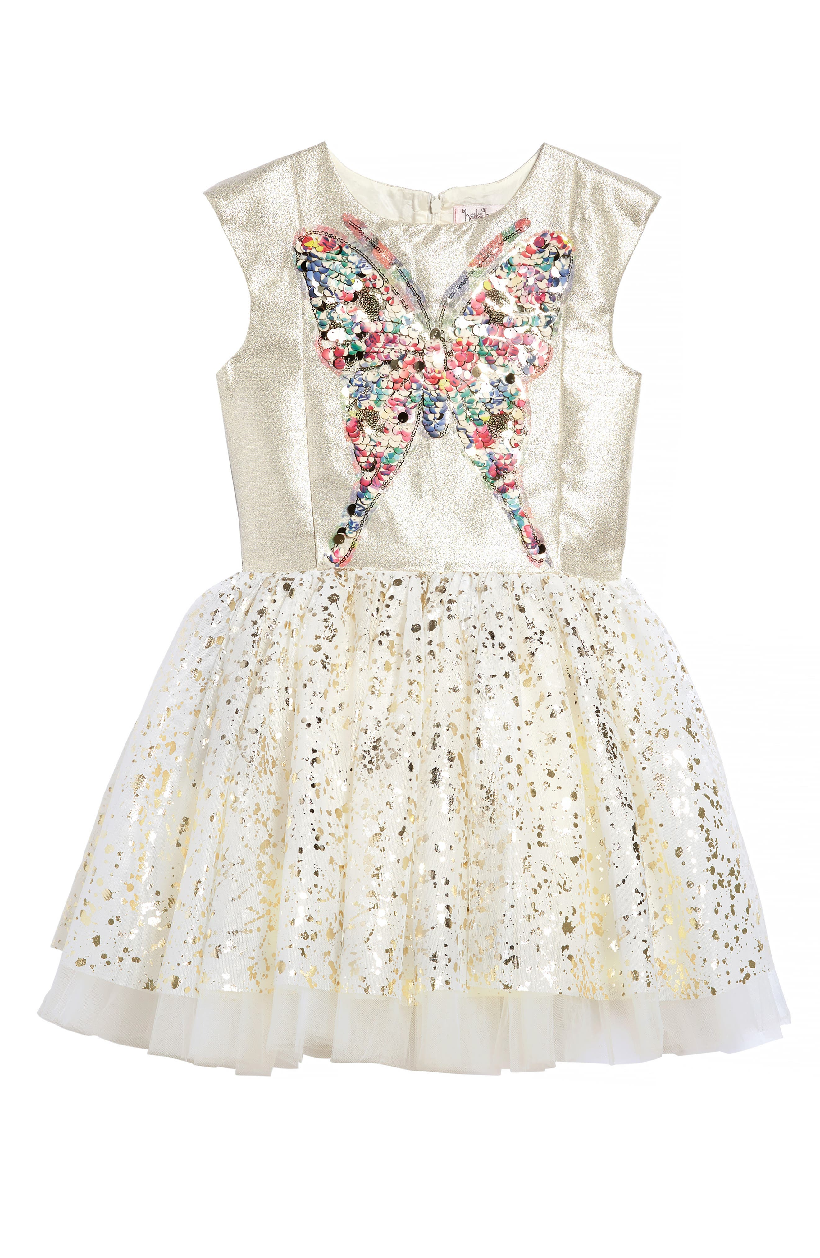 Sequin Butterfly Dress,                             Main thumbnail 1, color,