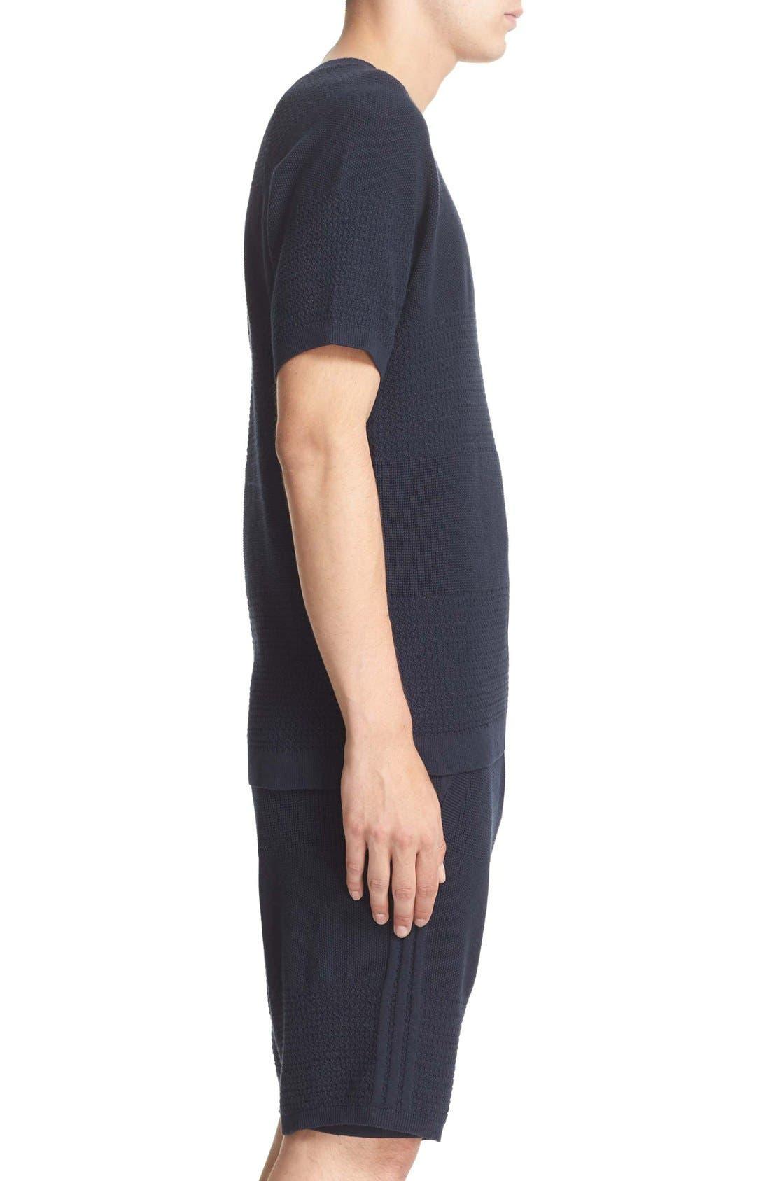 Linear Cotton & Linen T-Shirt,                             Alternate thumbnail 4, color,                             410