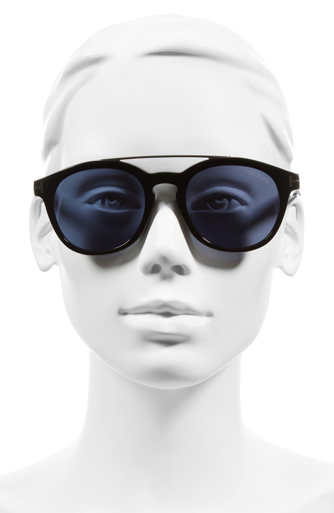 Newman 53mm Sunglasses,                             Alternate thumbnail 4, color,