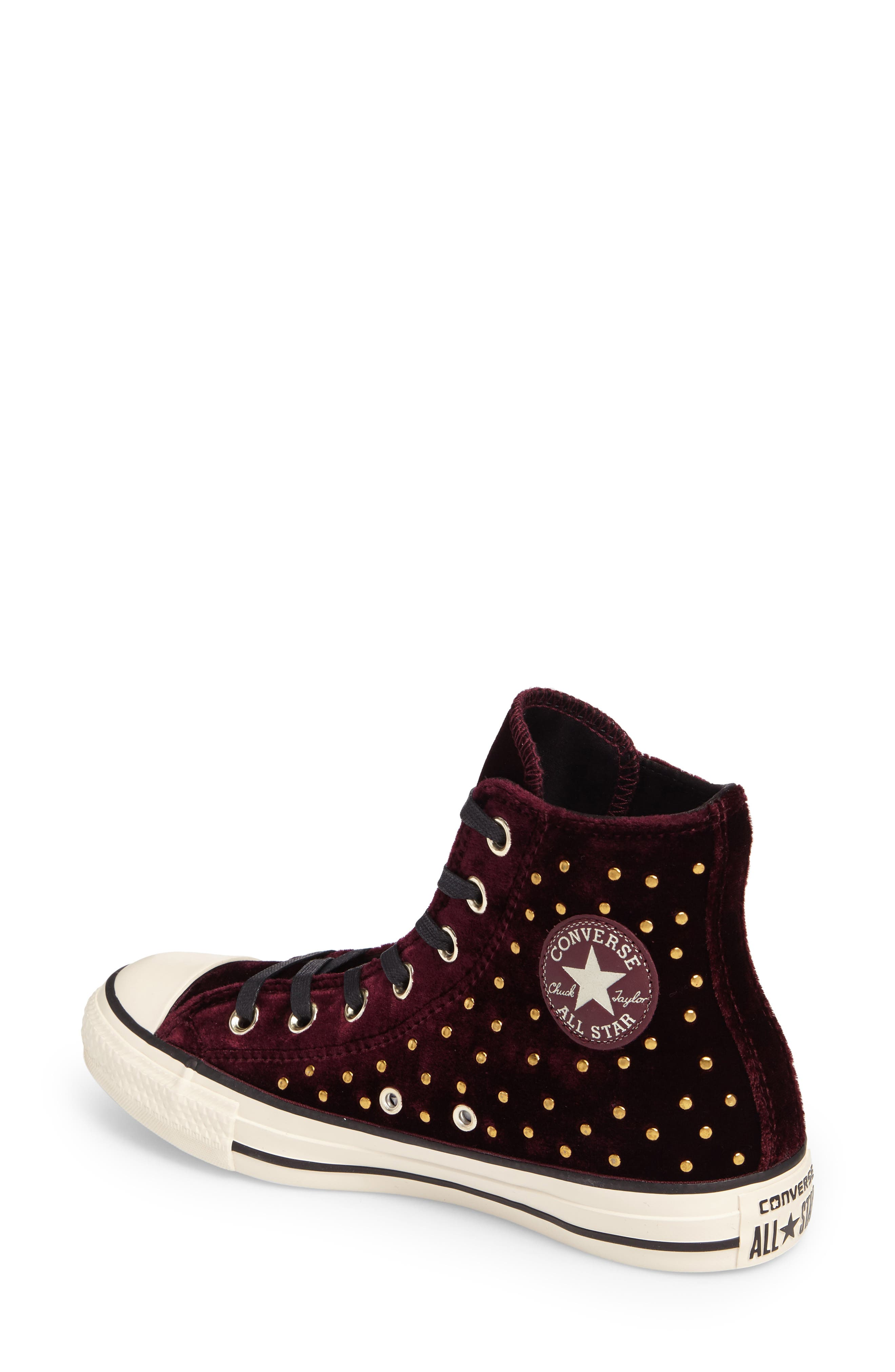 Chuck Taylor<sup>®</sup> All Star<sup>®</sup> Studded High Top Sneakers,                             Alternate thumbnail 6, color,