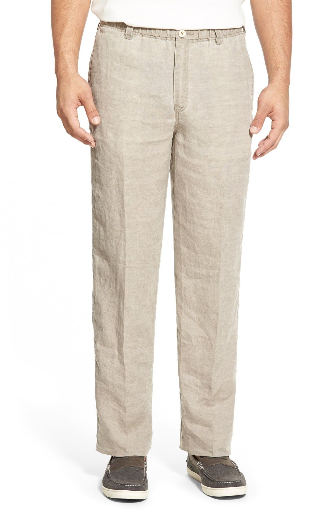 'New Linen on the Beach' Easy Fit Pants,                             Main thumbnail 5, color,