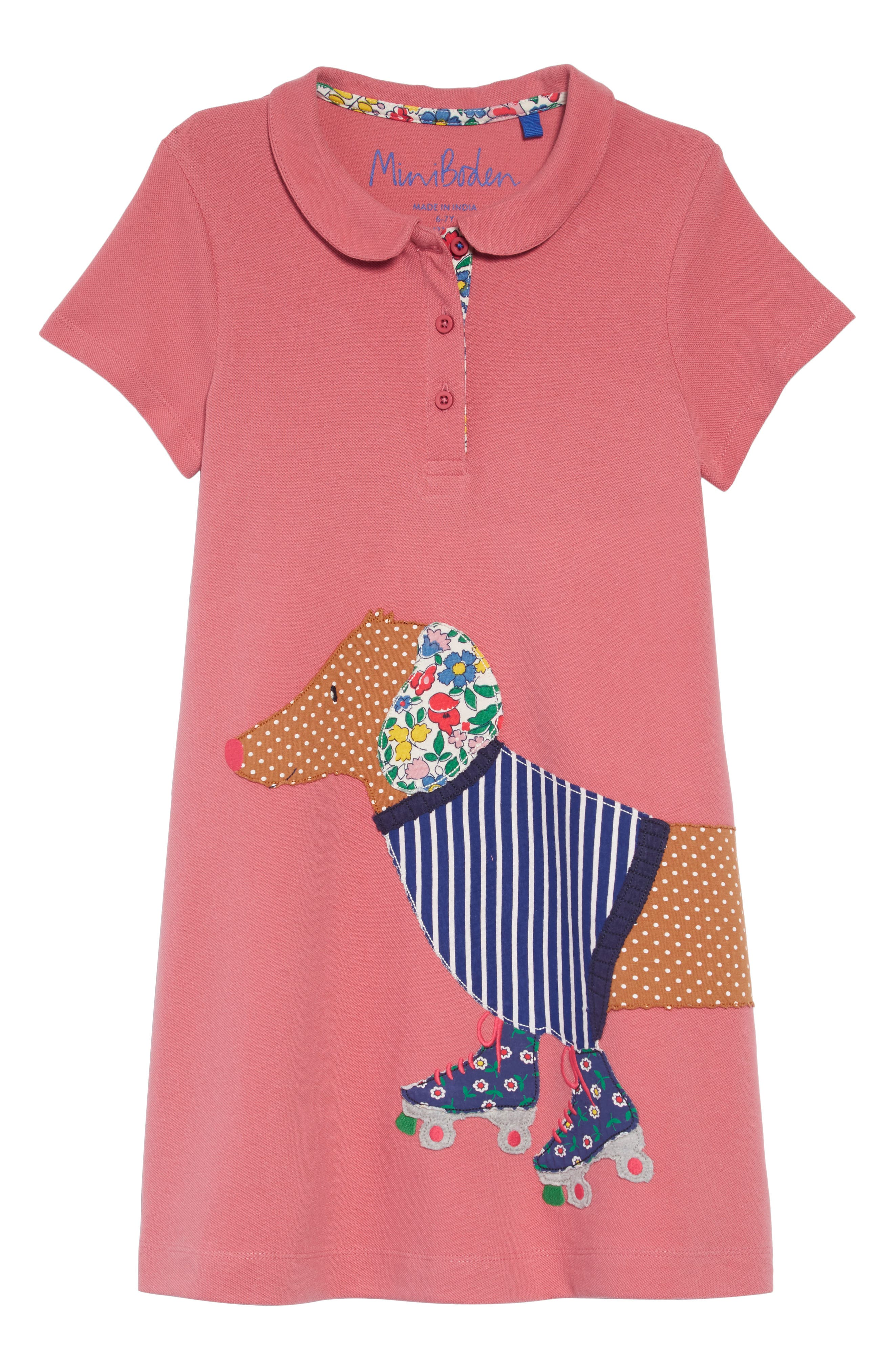 Appliqué Polo Dress,                             Main thumbnail 1, color,                             664