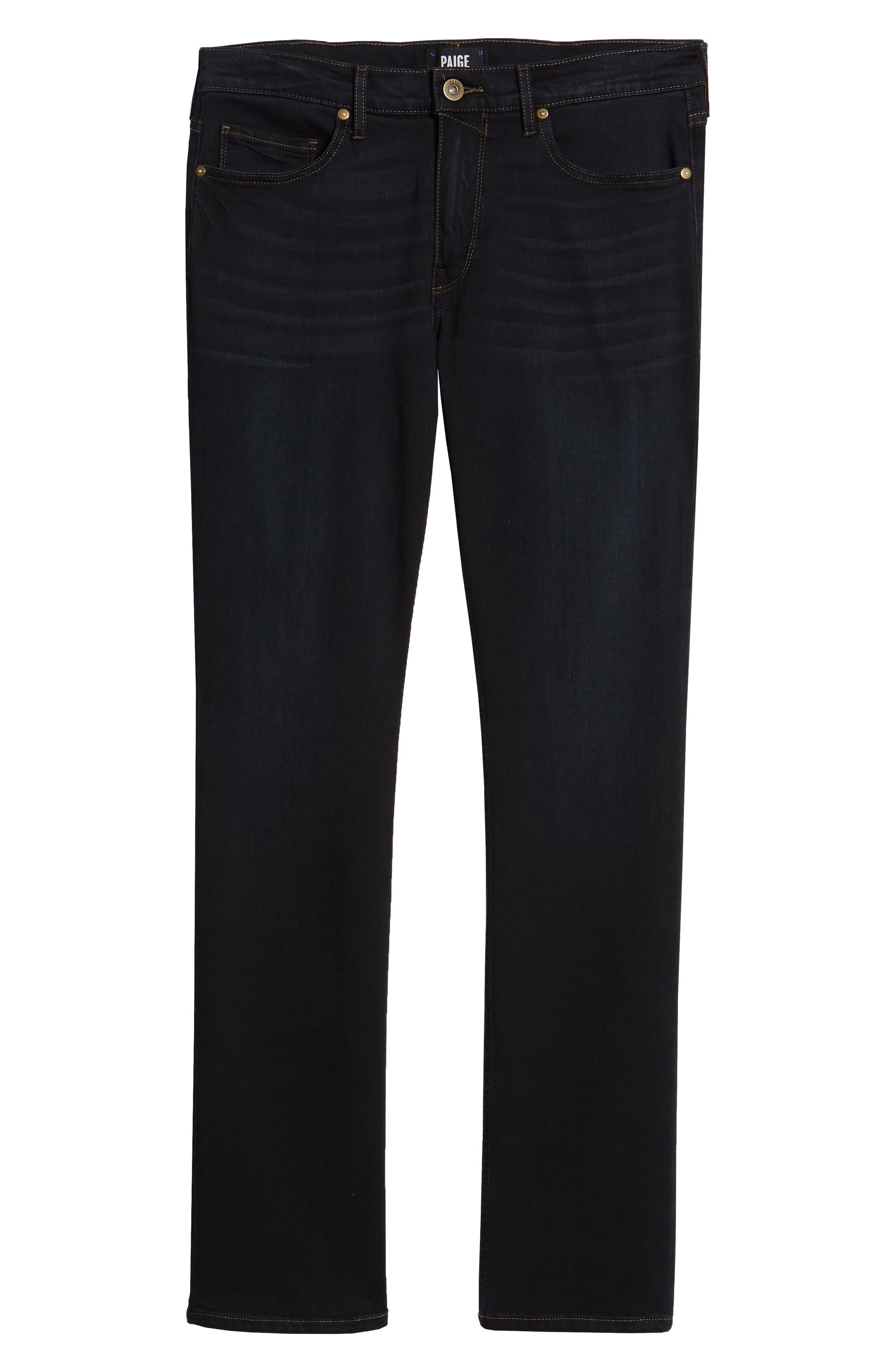 Transcend - Normandie Straight Leg Jeans,                             Alternate thumbnail 6, color,                             400