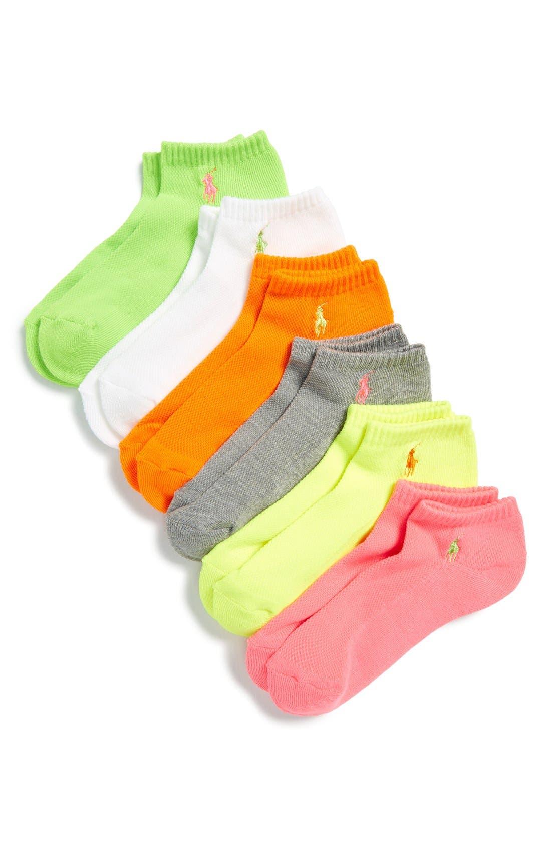 Sport 6-Pack Low-Cut Socks,                             Main thumbnail 9, color,