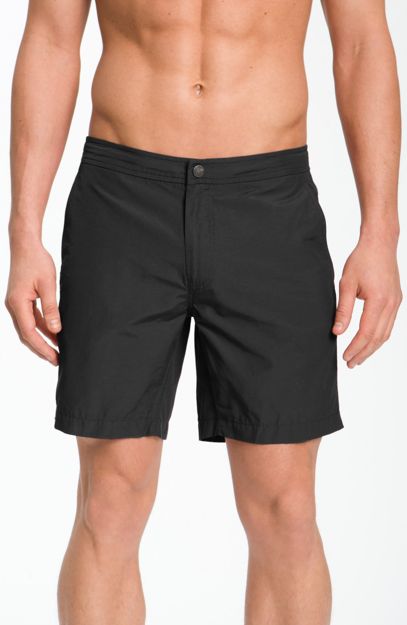 'Calder' Swim Trunks,                             Alternate thumbnail 7, color,                             BLACK