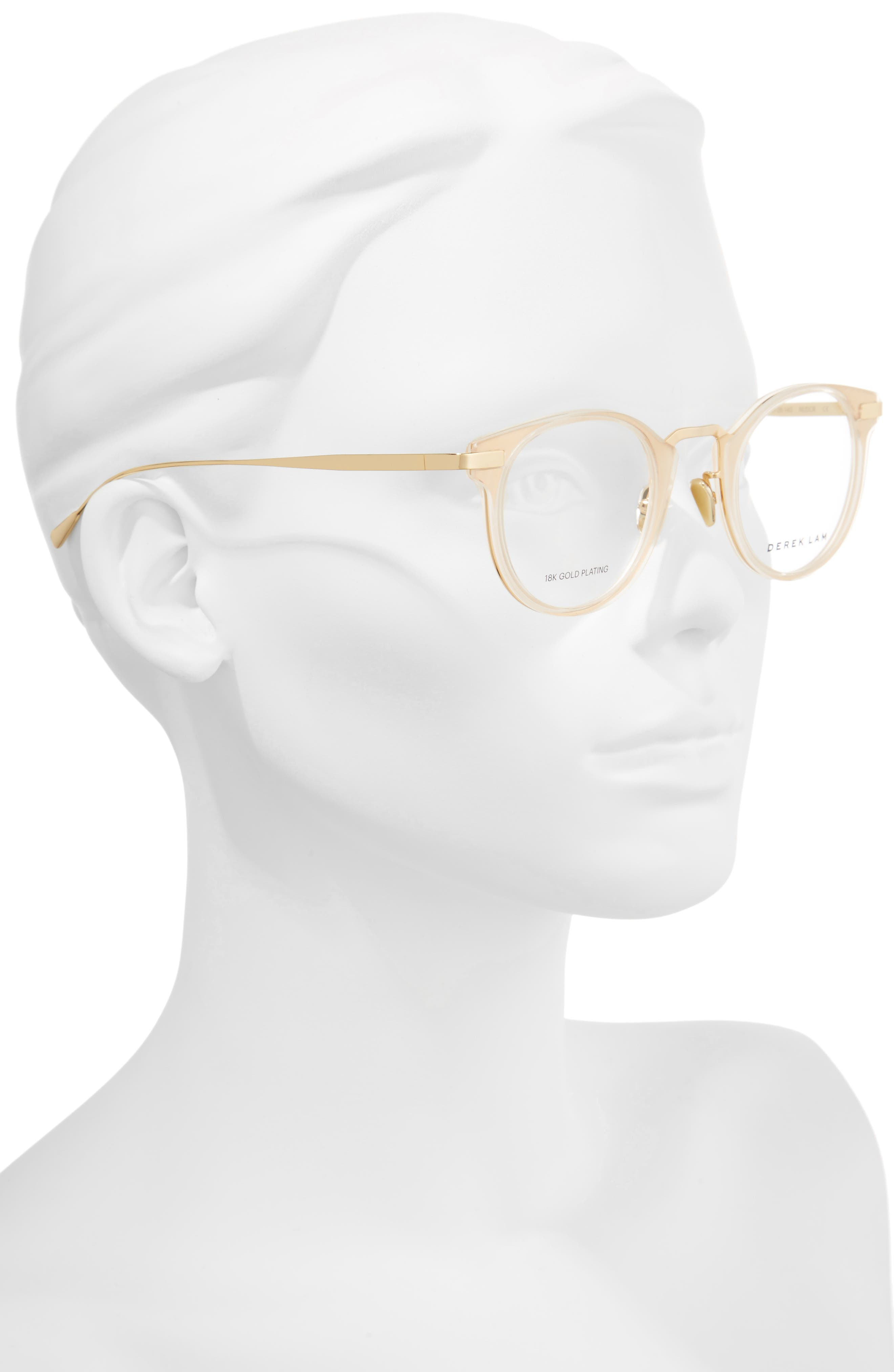 47mm Optical Glasses,                             Alternate thumbnail 2, color,                             NUDE CRYSTAL