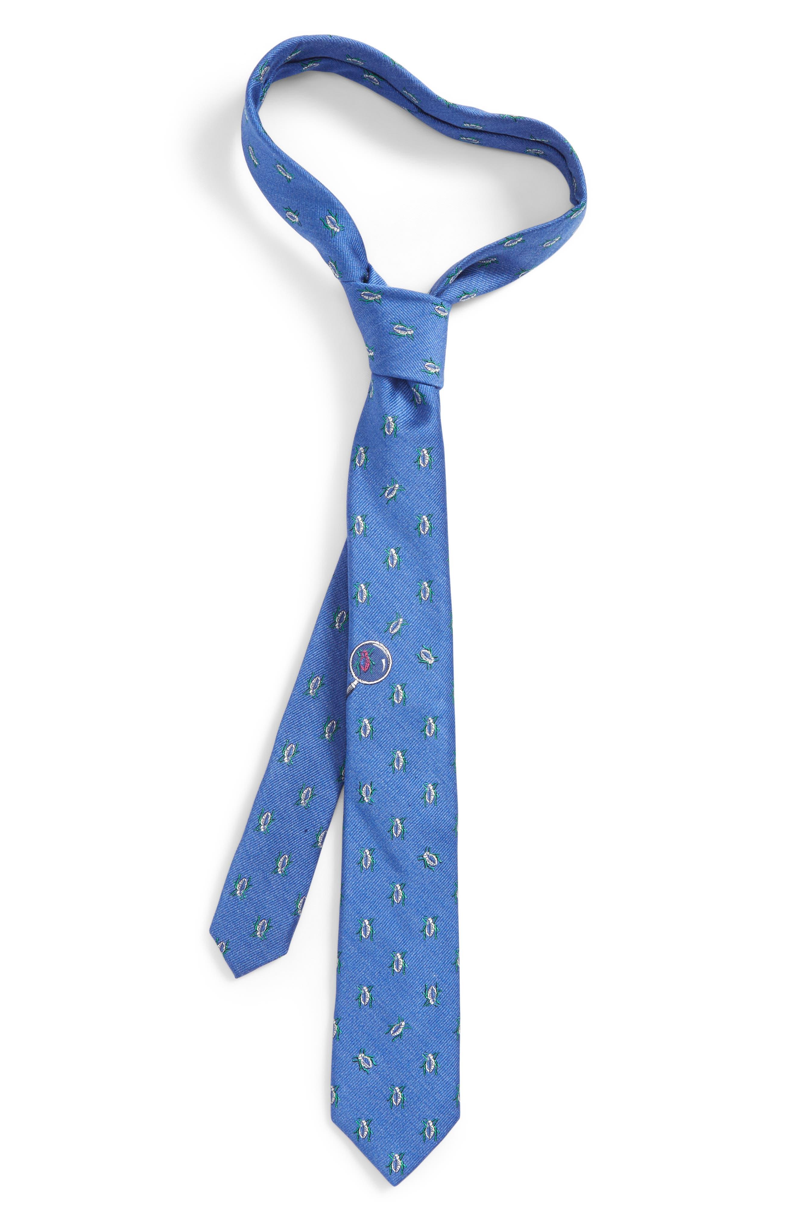 NORDSTROM,                             Beetle Observer Silk Tie,                             Main thumbnail 1, color,                             400
