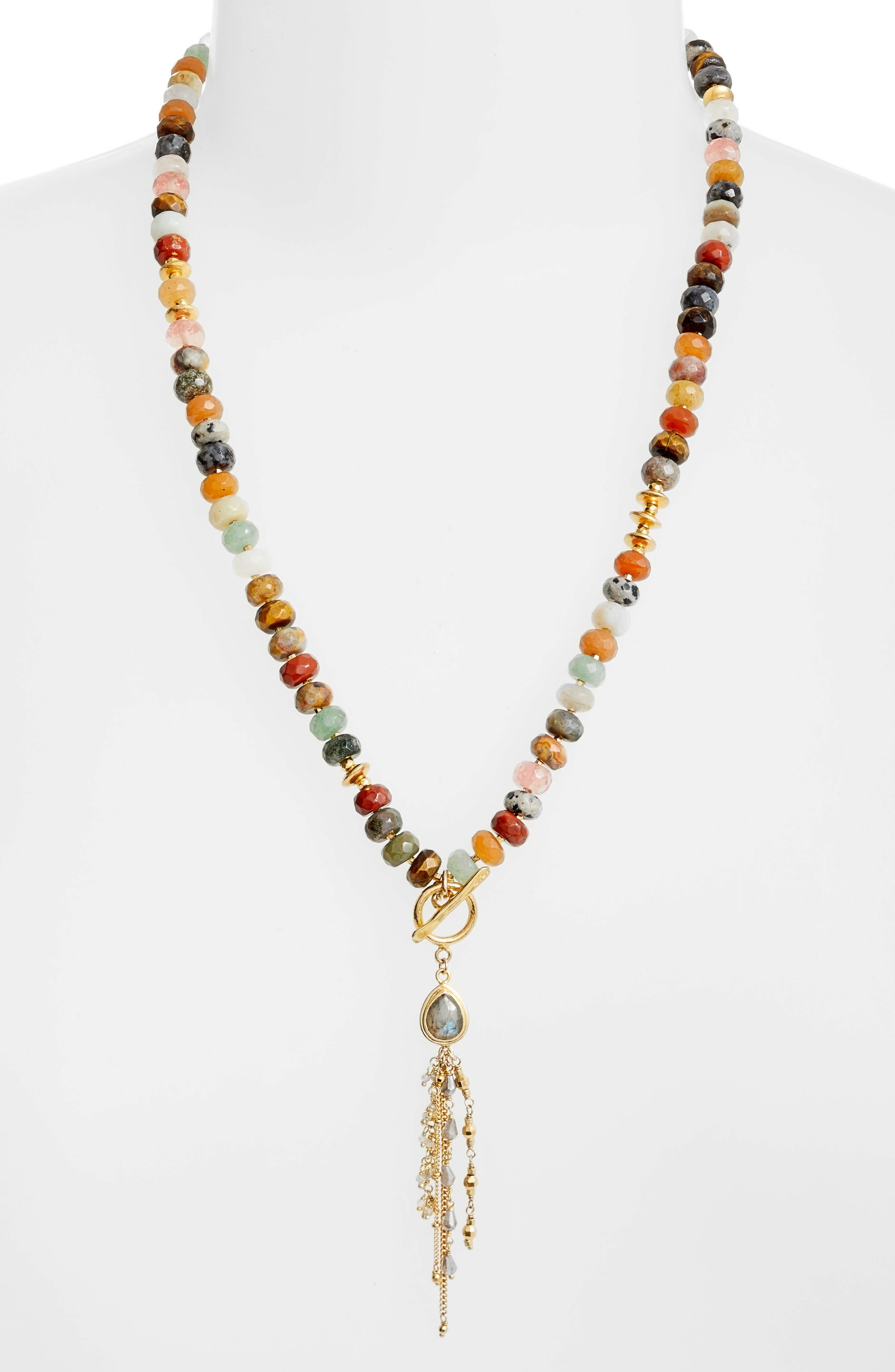 Adjustable Tassel Necklace,                             Alternate thumbnail 2, color,                             200