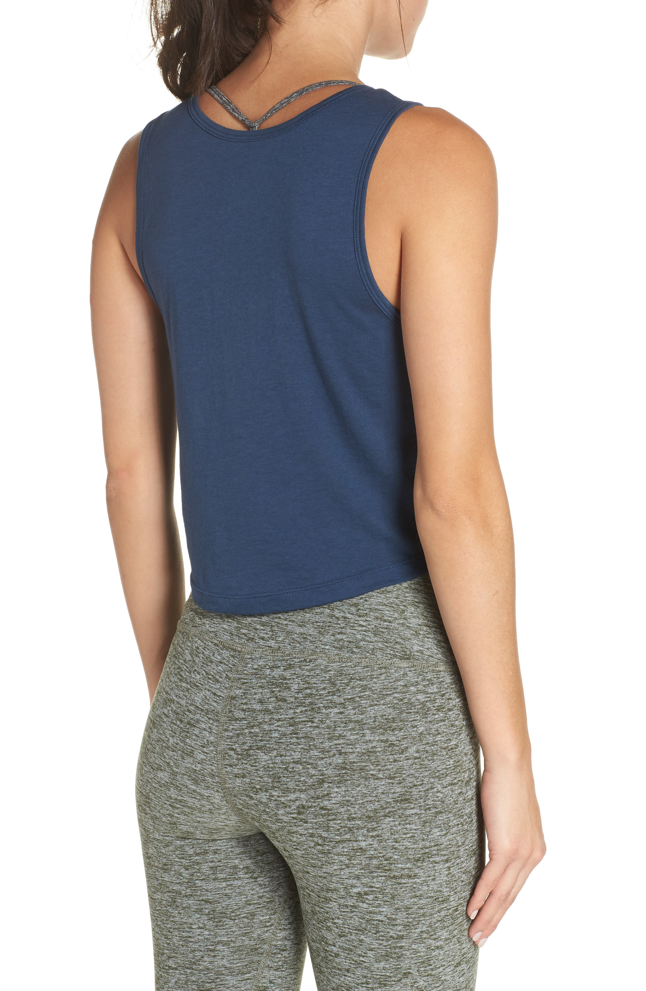 Crossroads Crop Tank,                             Alternate thumbnail 3, color,                             OUTLAW NAVY