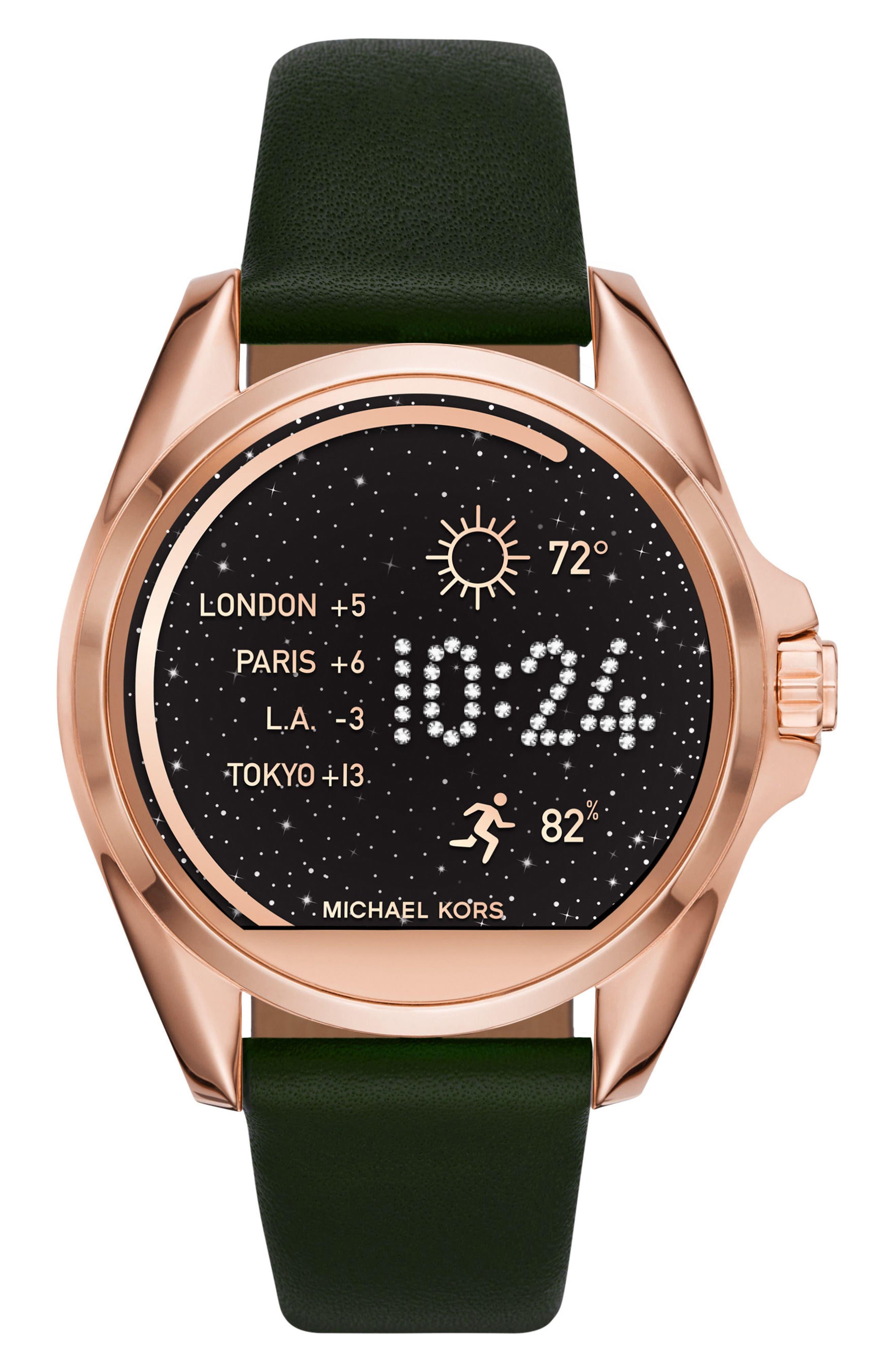Bradshaw 22mm Leather Watch Strap,                             Alternate thumbnail 5, color,