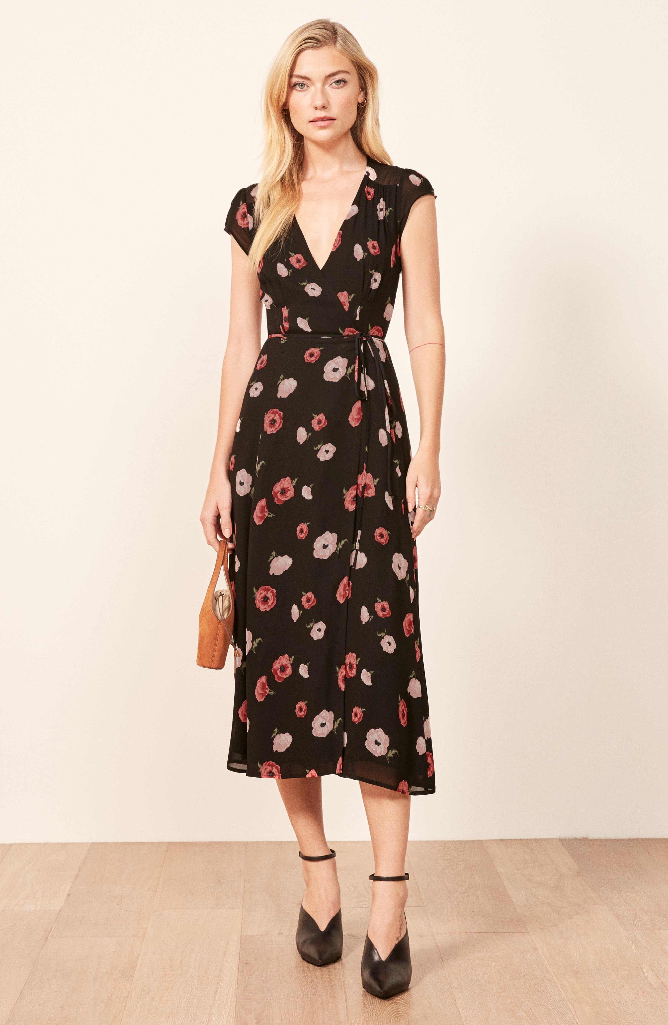 Carina Midi Wrap Dress,                             Alternate thumbnail 6, color,                             JENNIFER