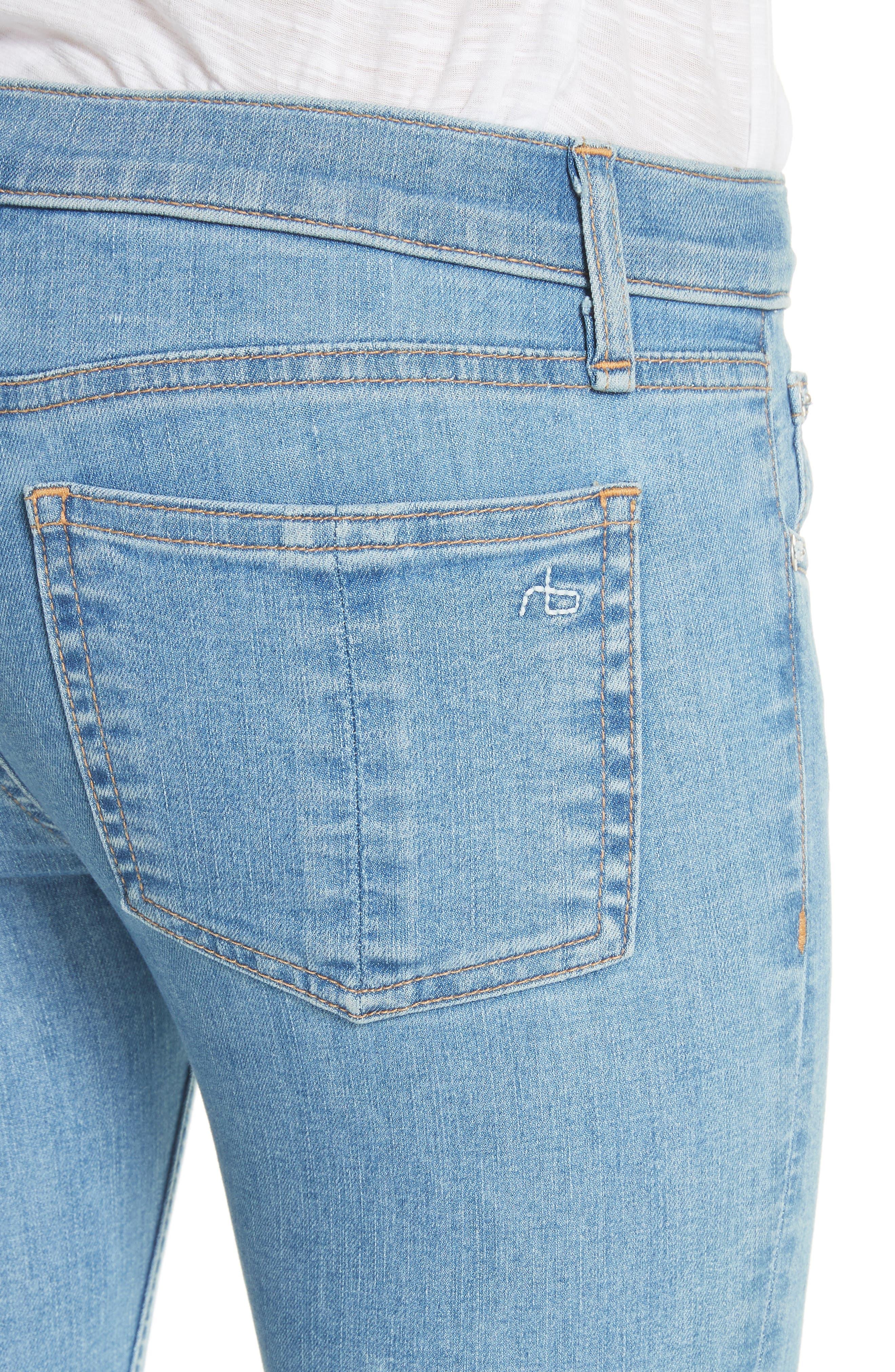 JEAN Release Hem Ankle Skinny Jeans,                             Alternate thumbnail 4, color,                             409