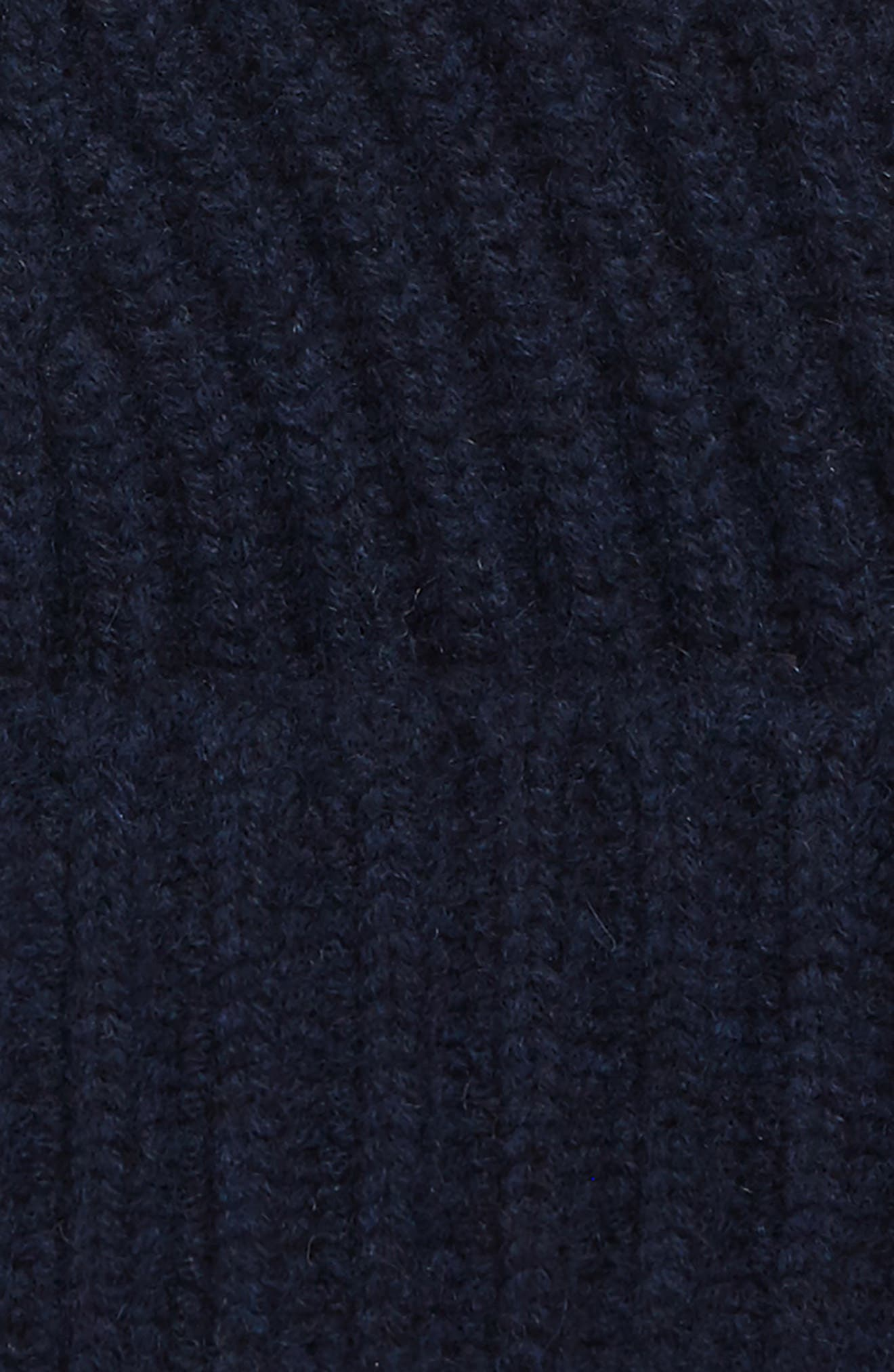 Cuffed Cashmere Beanie,                             Alternate thumbnail 2, color,                             NAVY