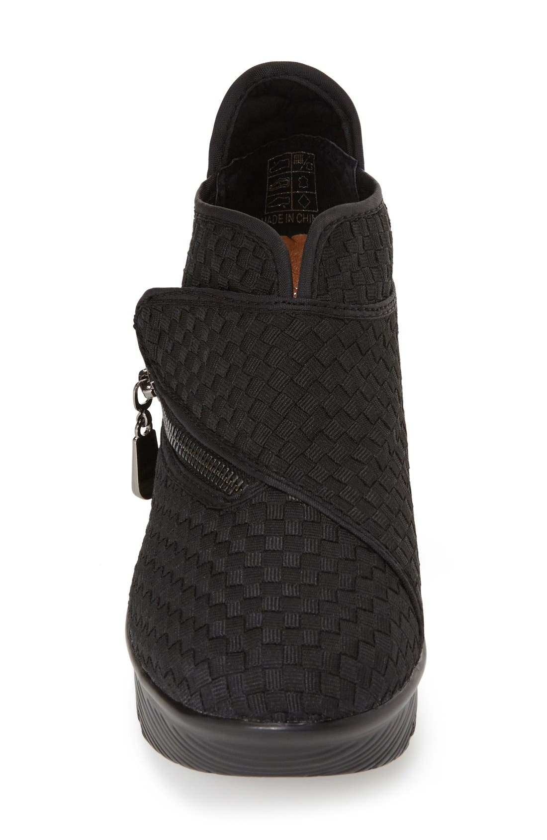 'ZigZag' Wedge Bootie,                             Alternate thumbnail 3, color,                             001