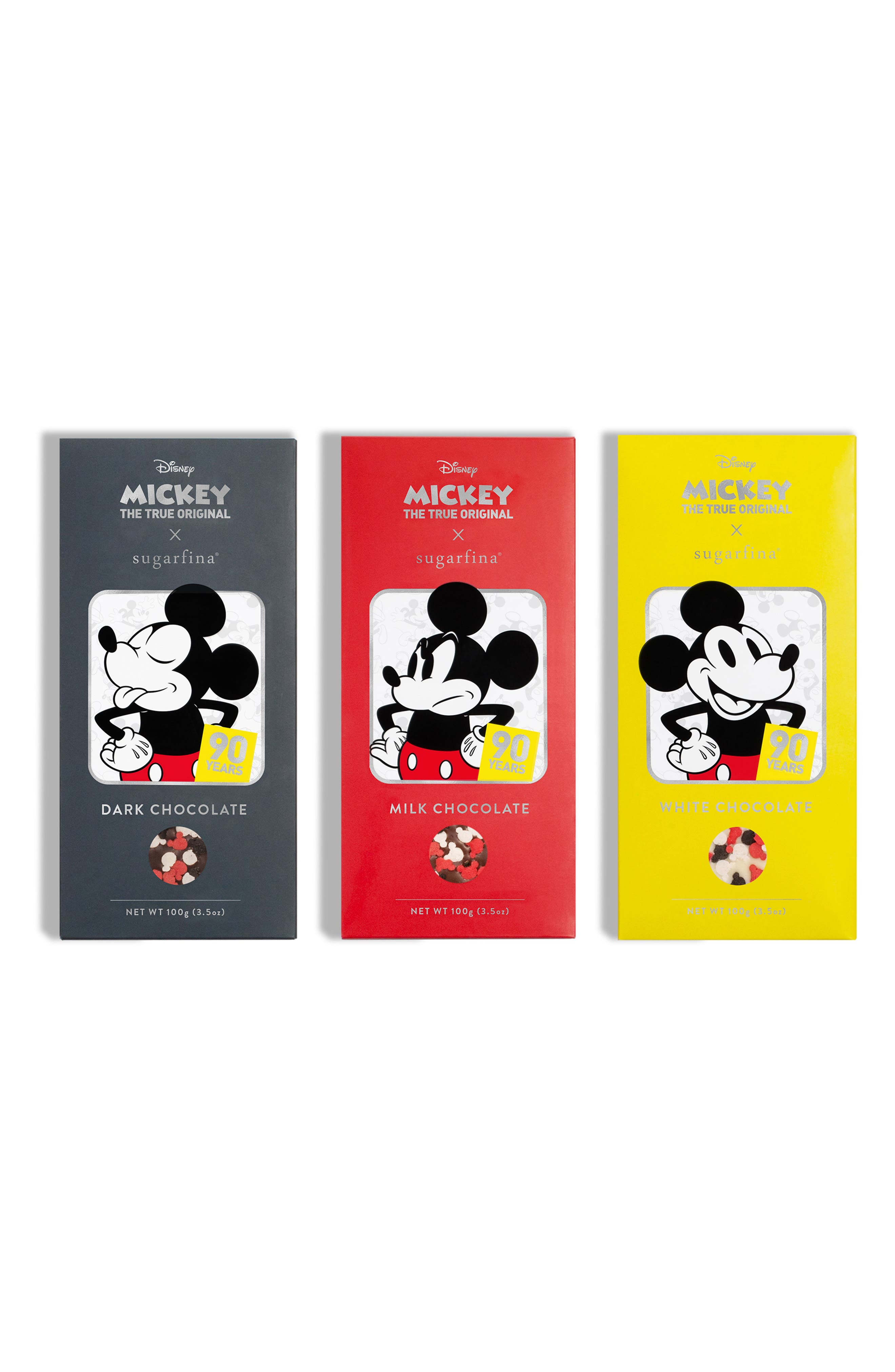 SUGARFINA,                             Mickey Chocolate Bar Trio,                             Main thumbnail 1, color,                             600