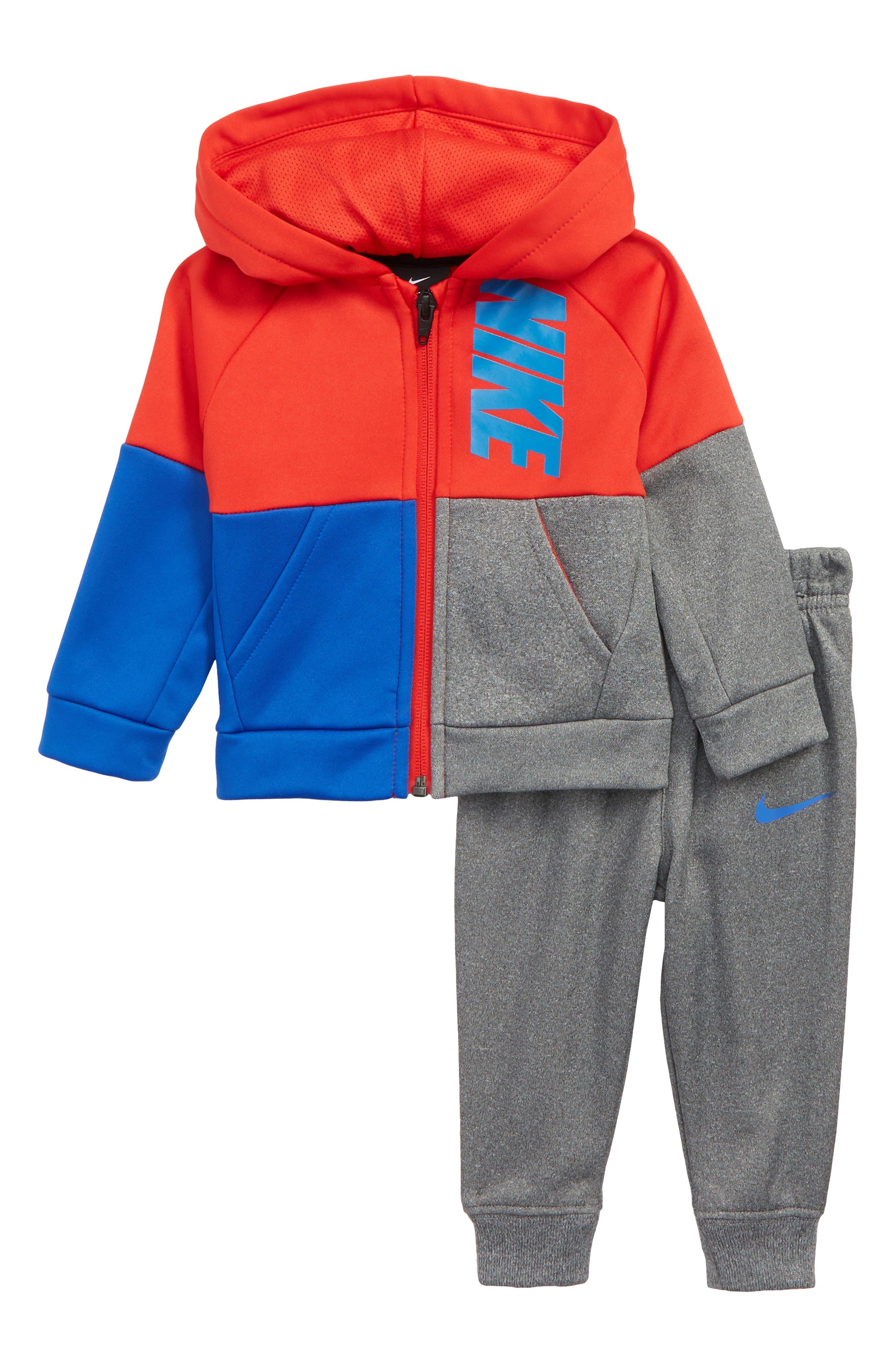 Colorblock Zip Hoodie & Sweatpants Set,                             Main thumbnail 1, color,                             020