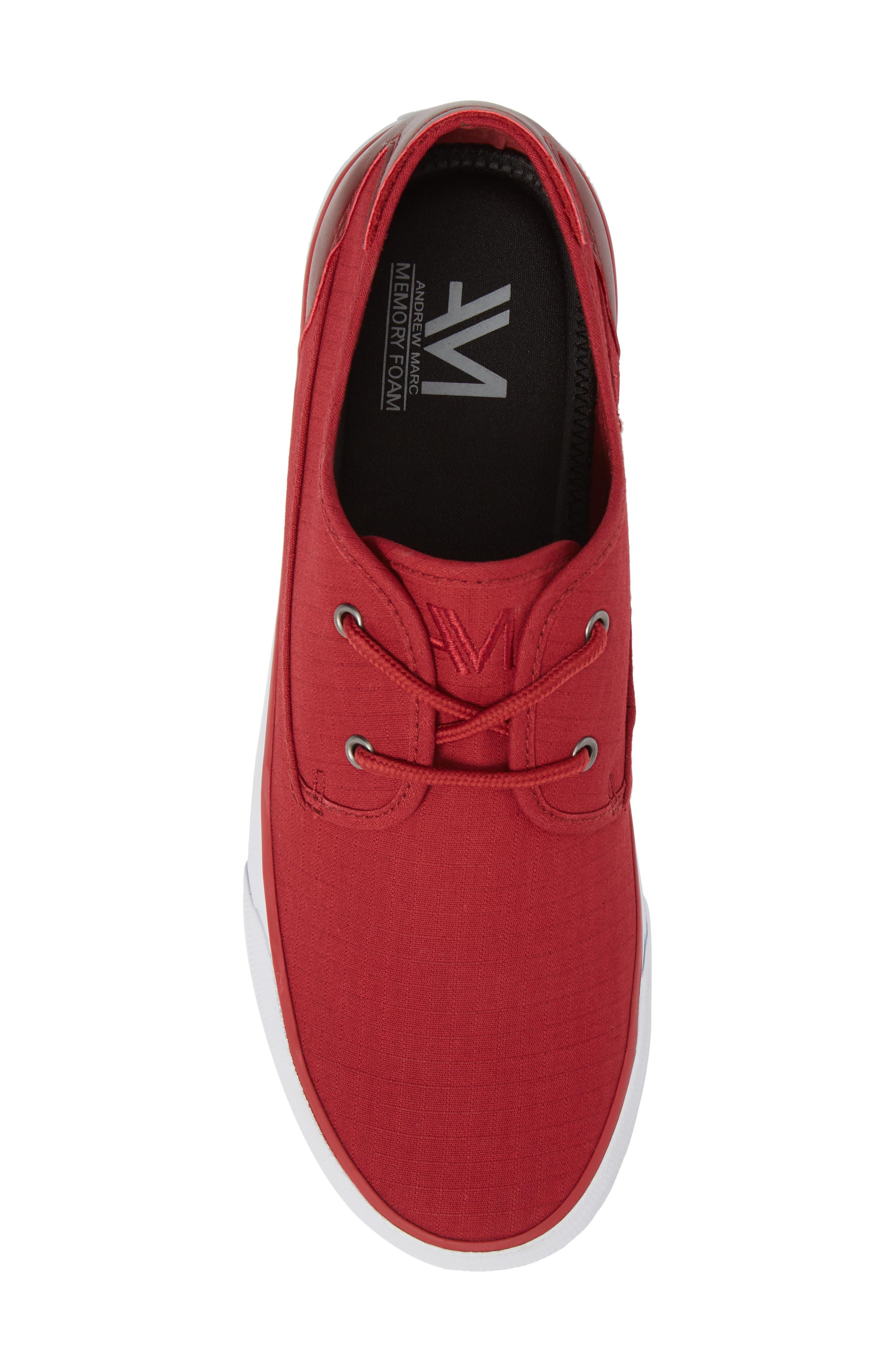 Morris Sneaker,                             Alternate thumbnail 5, color,                             RED/ WHITE