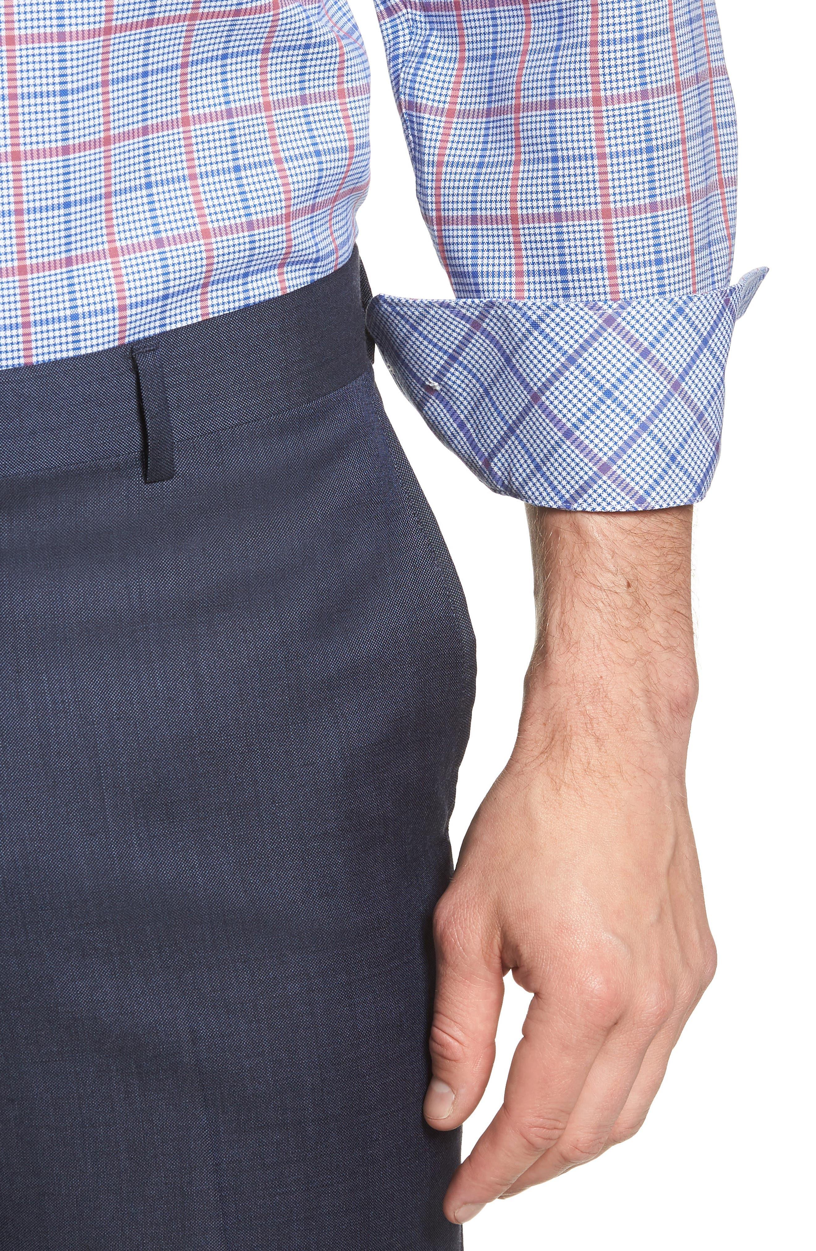 Kai Trim Fit Check Dress Shirt,                             Alternate thumbnail 2, color,                             400