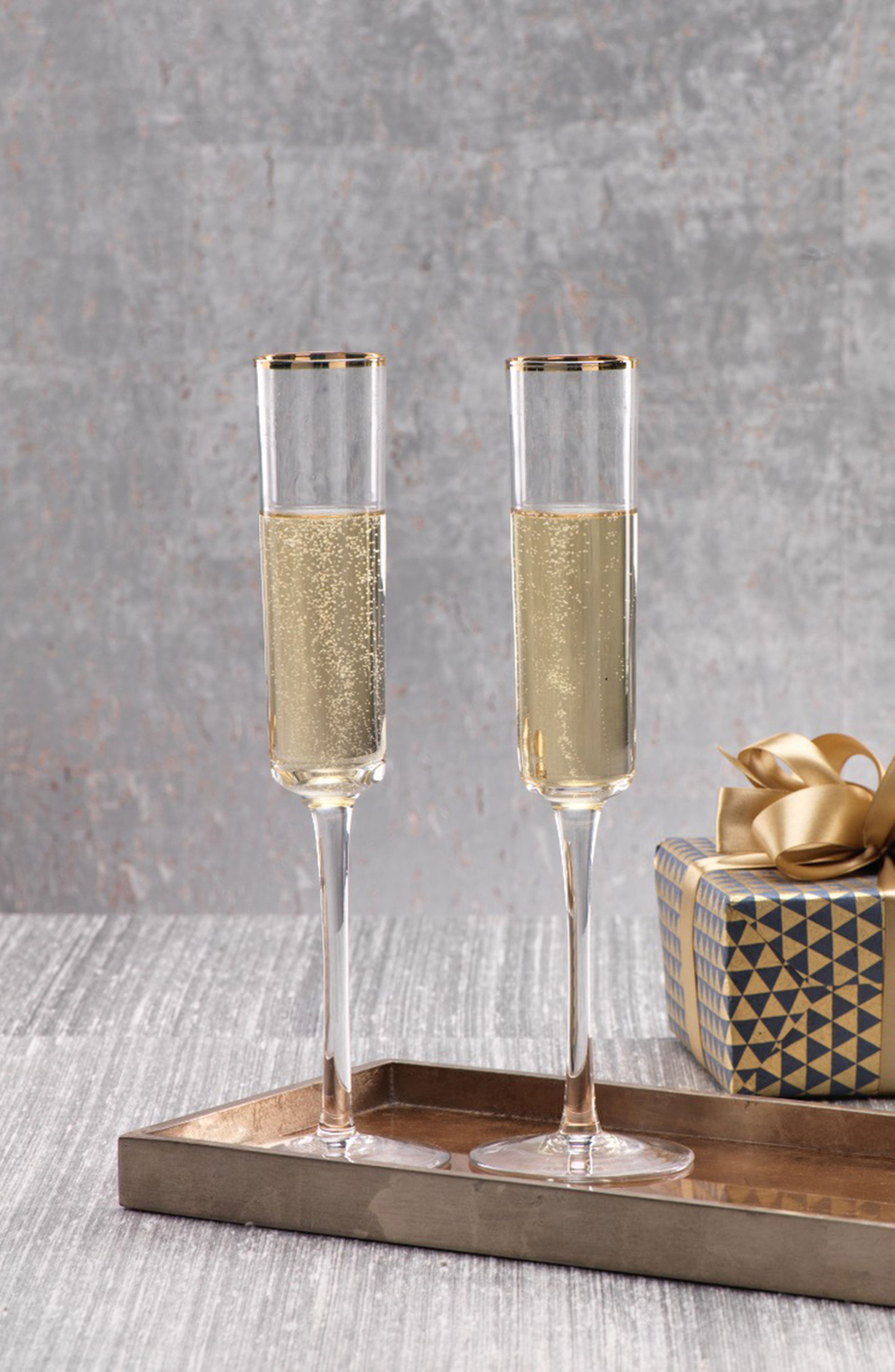 Zalli Set of 6 Champagne Flutes,                             Alternate thumbnail 2, color,                             710