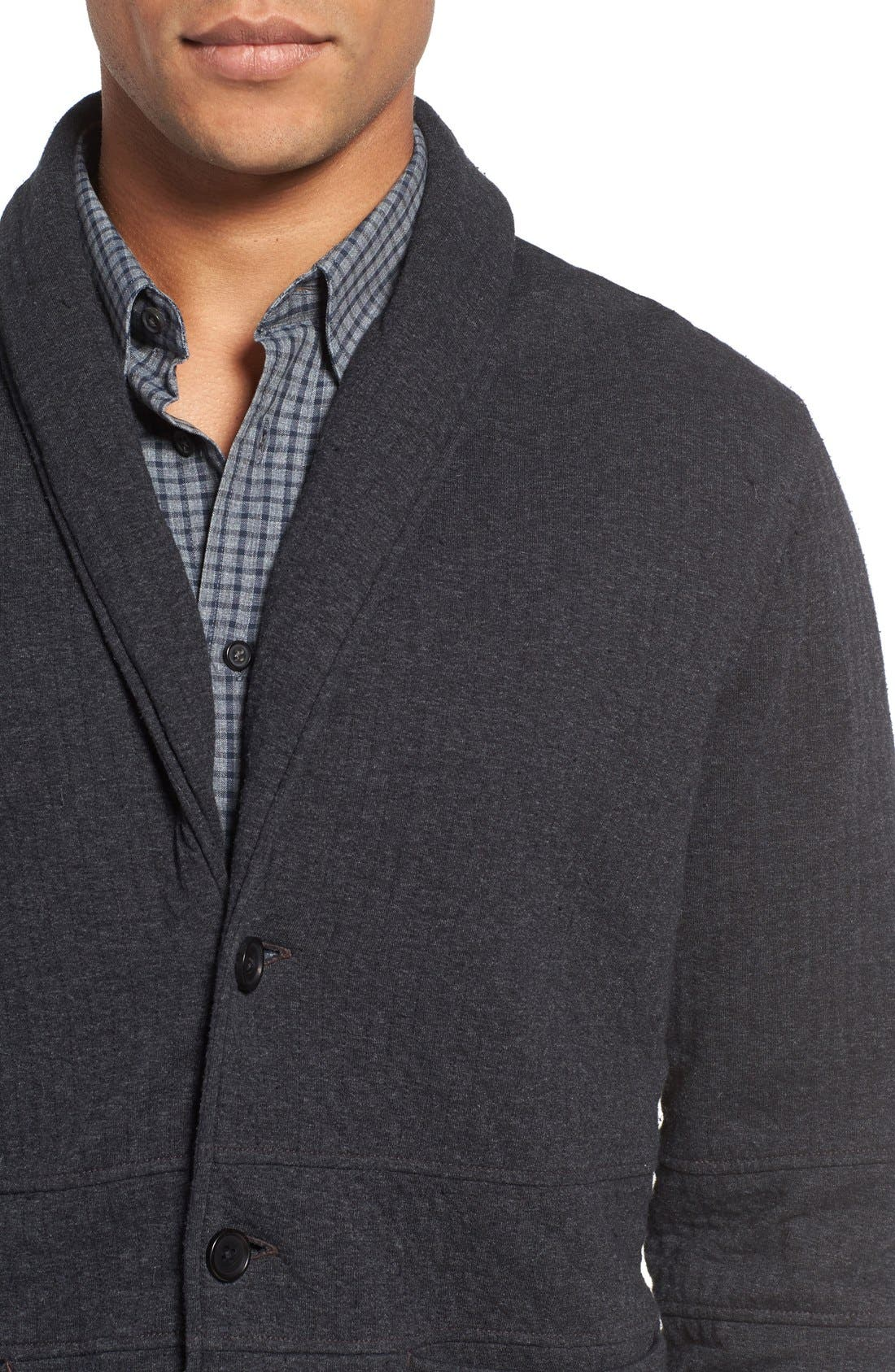 Quilted Shawl Collar Sweater,                             Alternate thumbnail 9, color,