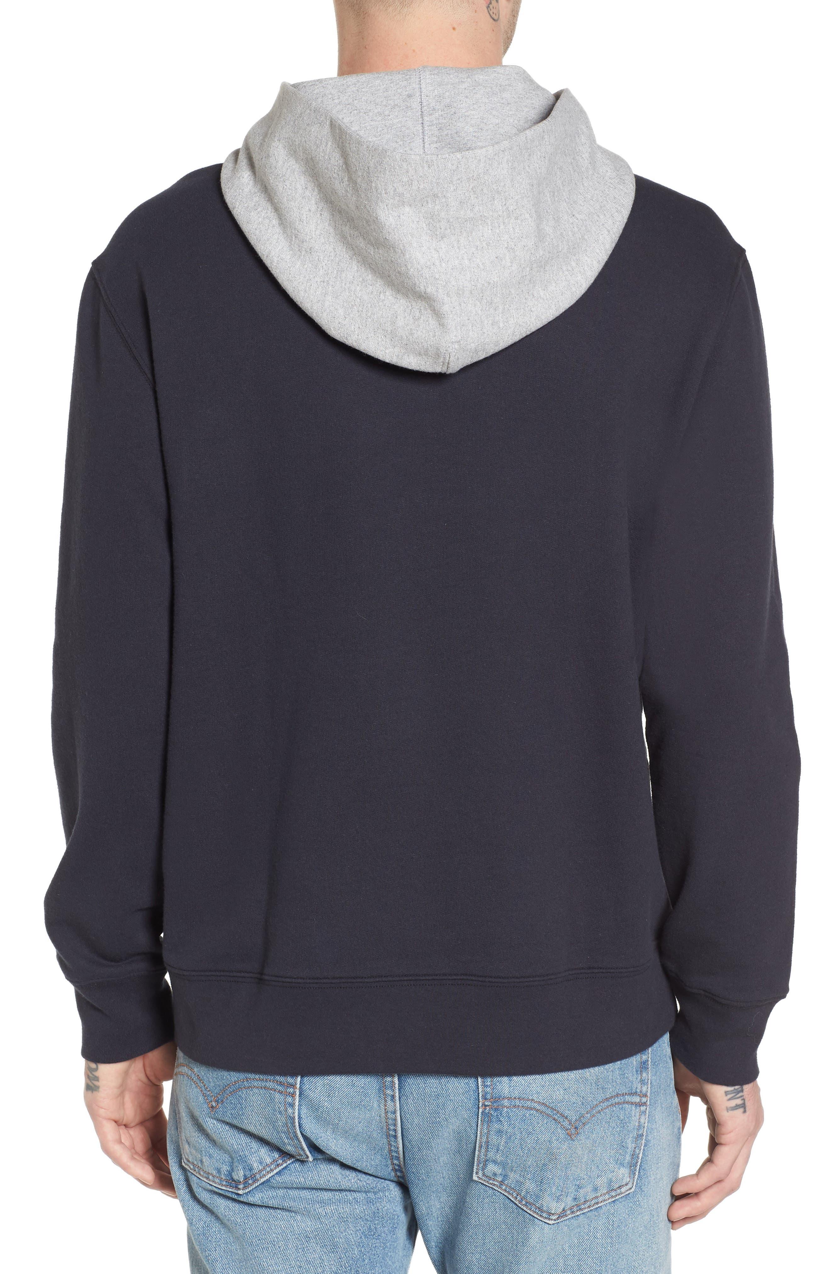 Colorblock Hoodie Sweatshirt,                             Alternate thumbnail 2, color,                             001