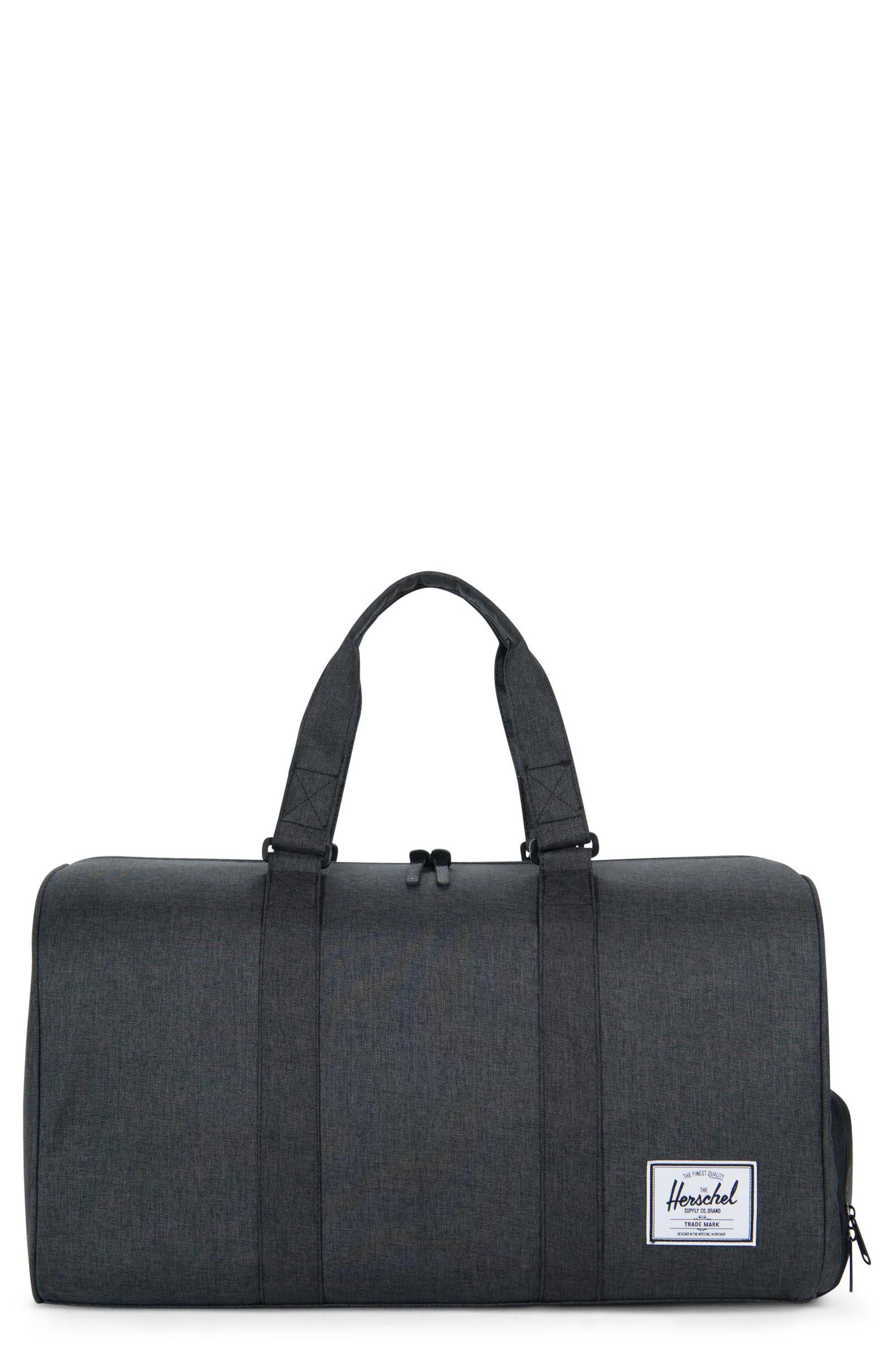 HERSCHEL SUPPLY CO. Novel Duffel Bag - Black in Black Crosshatch