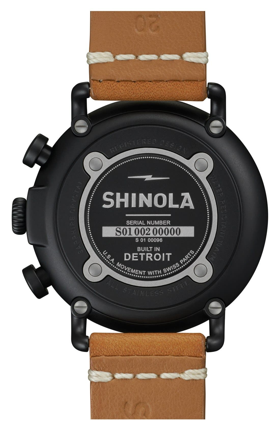 'The Runwell Chrono' Leather Strap Watch, 41mm,                             Alternate thumbnail 23, color,