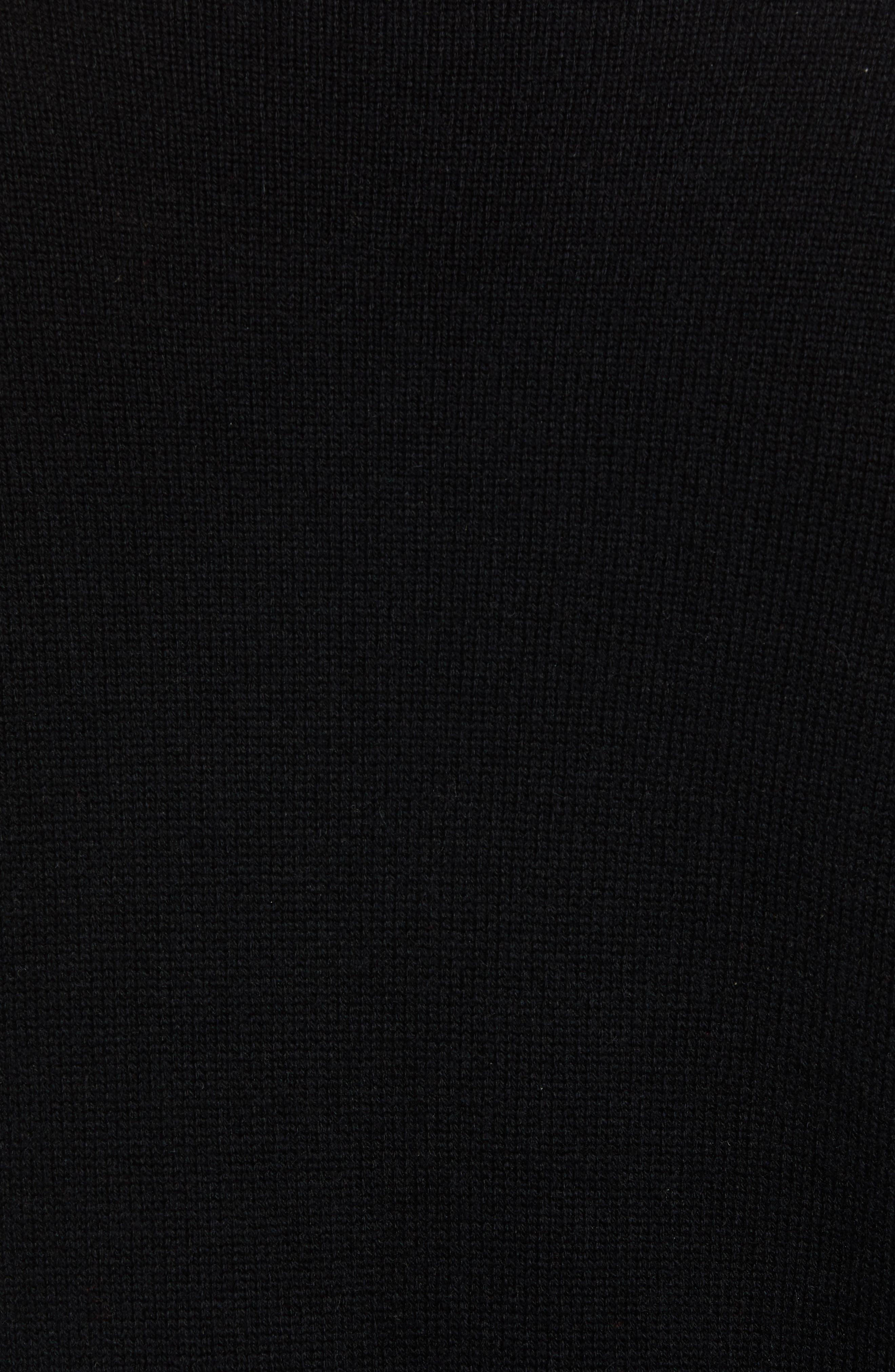 Wool & Cashmere Turtleneck Sweater,                             Alternate thumbnail 5, color,                             BLACK