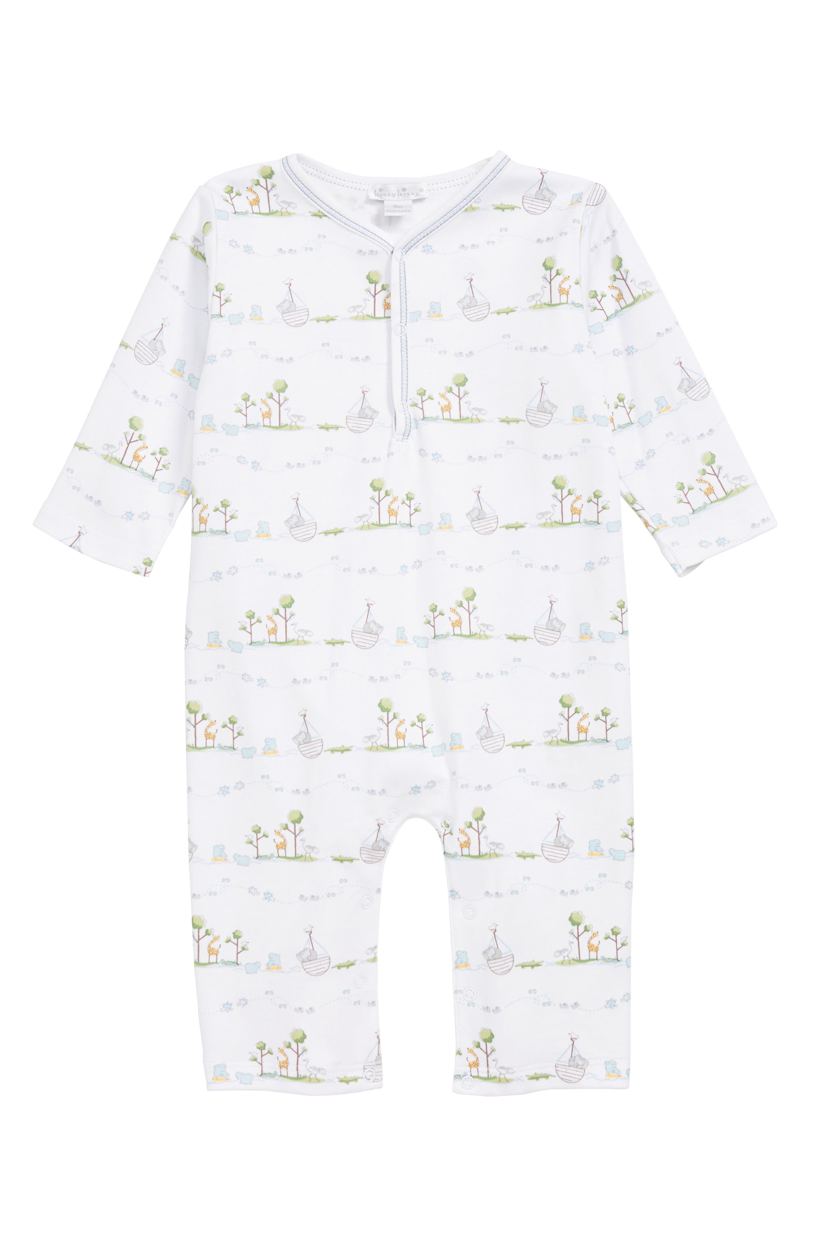 Infant Boys Kissy Kissy NoahS Ark Footie Size 1218M  Blue