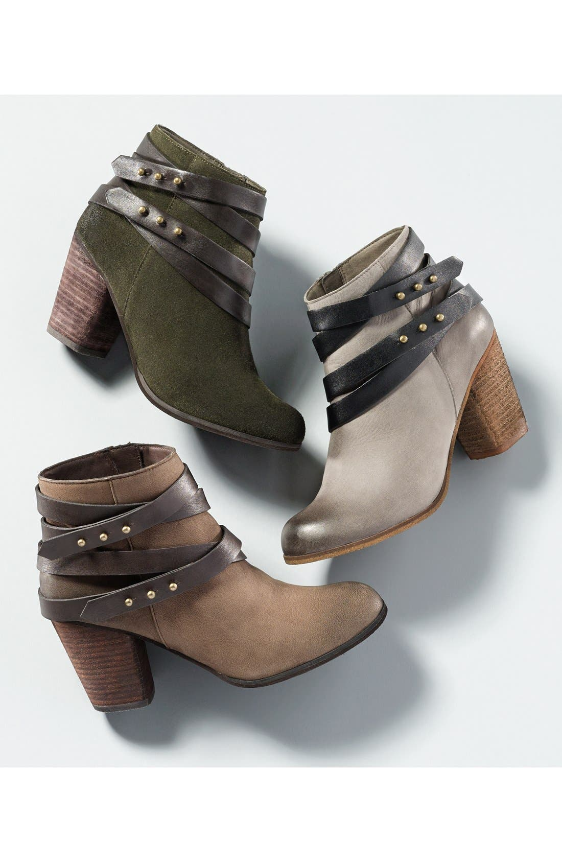 'Train' Wrap Belted Bootie,                             Alternate thumbnail 2, color,                             218