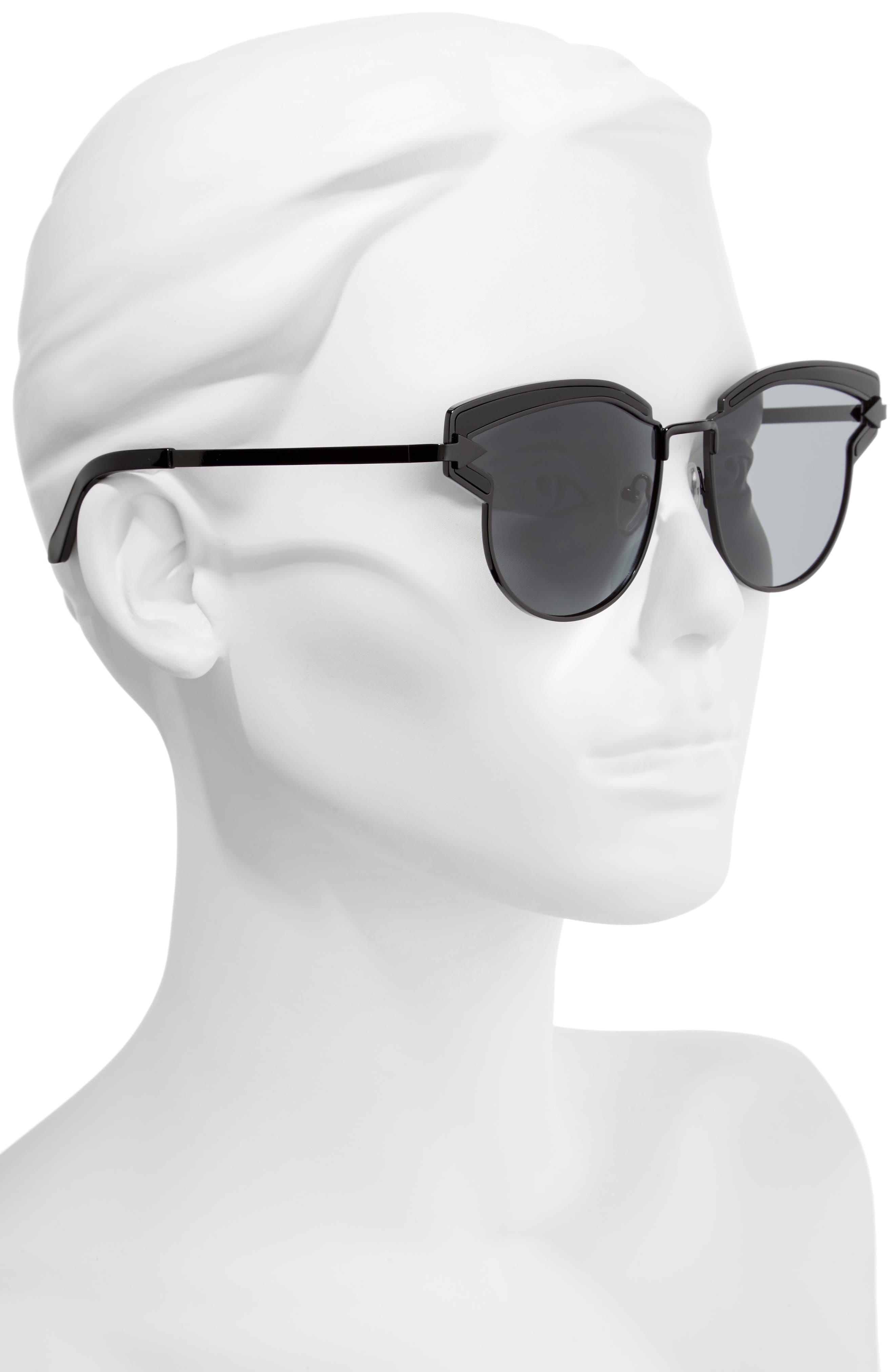 Buccaneer 47mm Round Sunglasses,                             Alternate thumbnail 4, color,