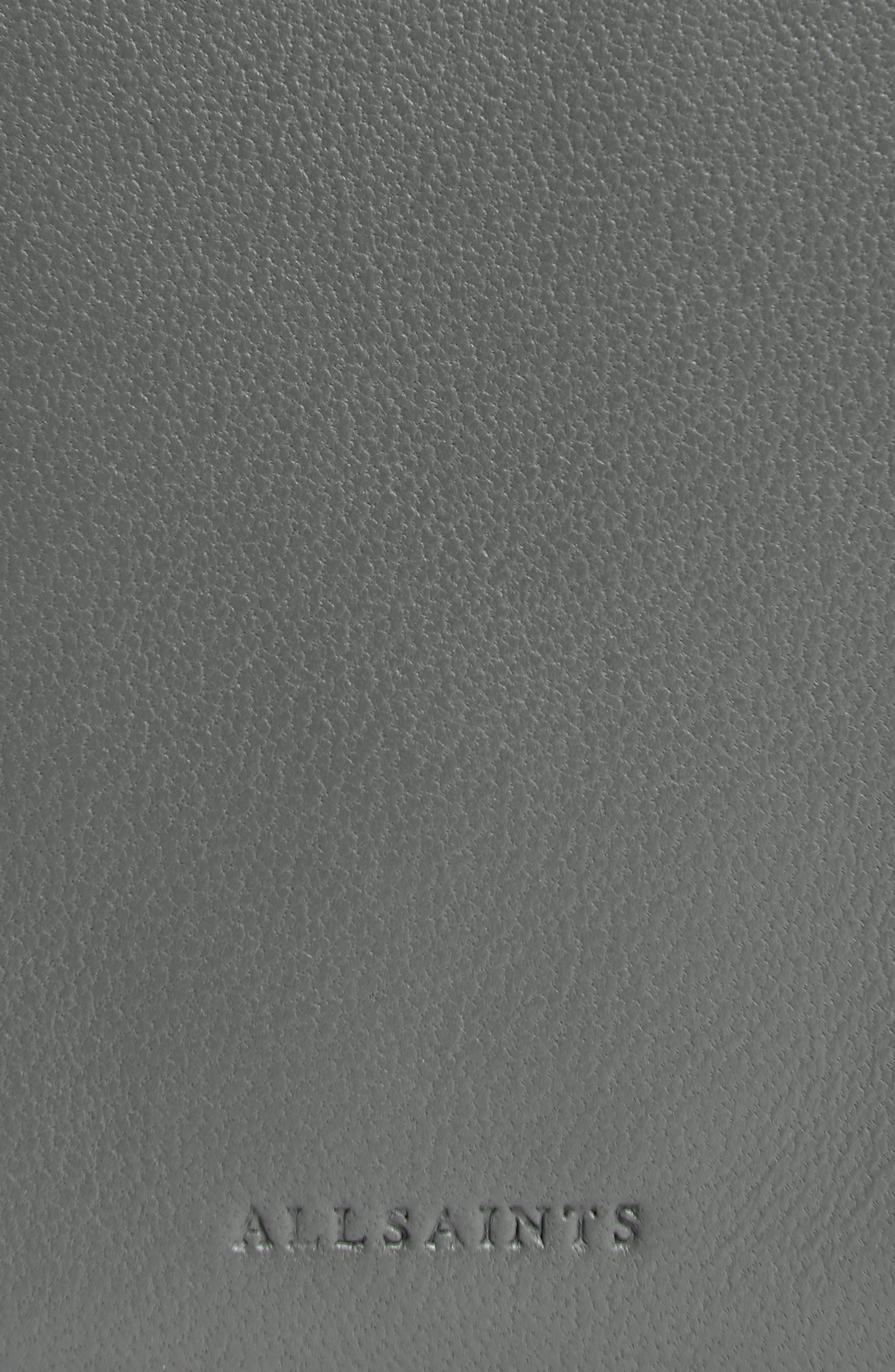Zep Lambskin Leather Box Bag,                             Alternate thumbnail 9, color,                             SMOKY BLUE/ DARK BLUE