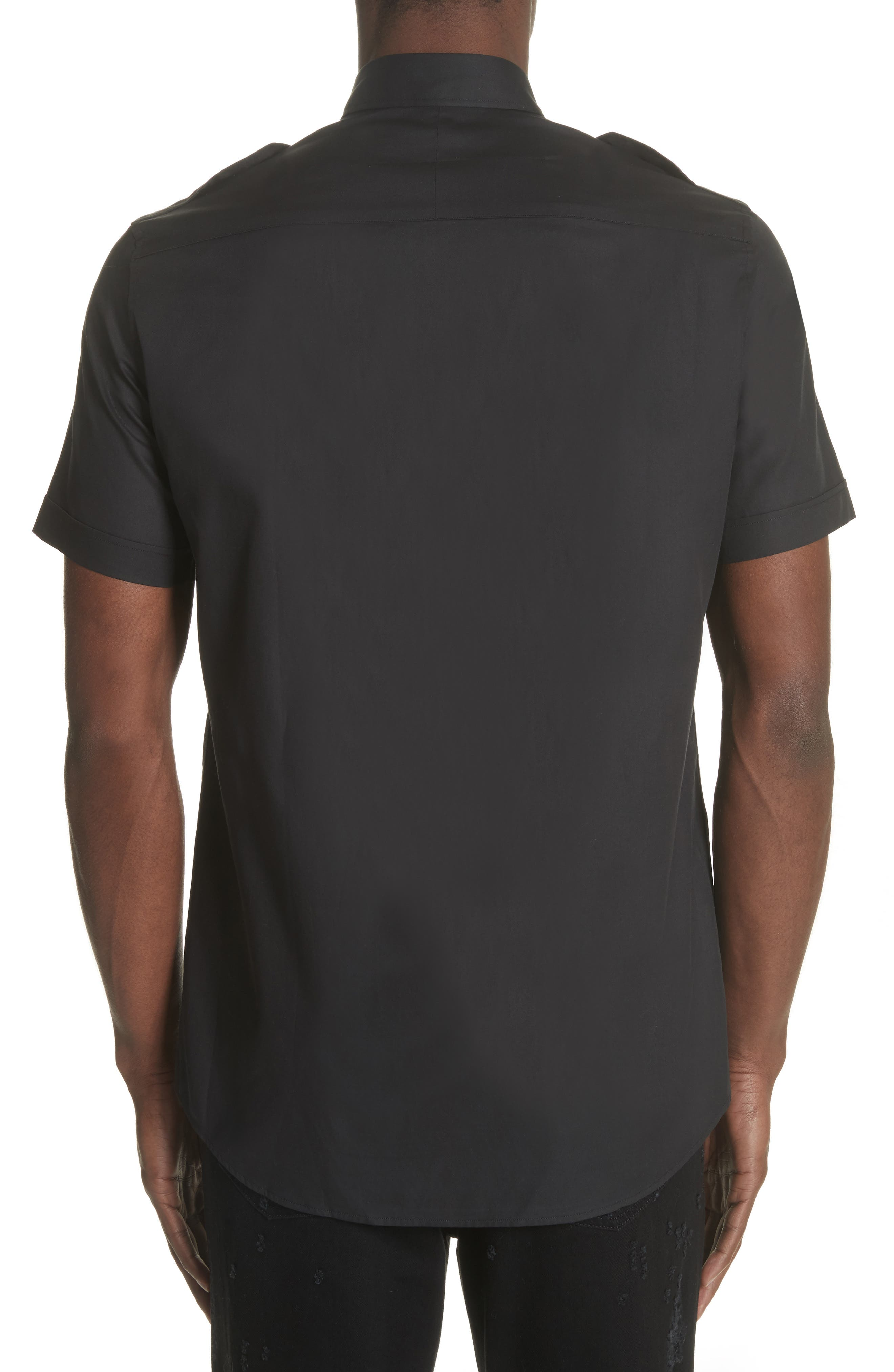 Short Sleeve Woven Shirt,                             Alternate thumbnail 2, color,                             001
