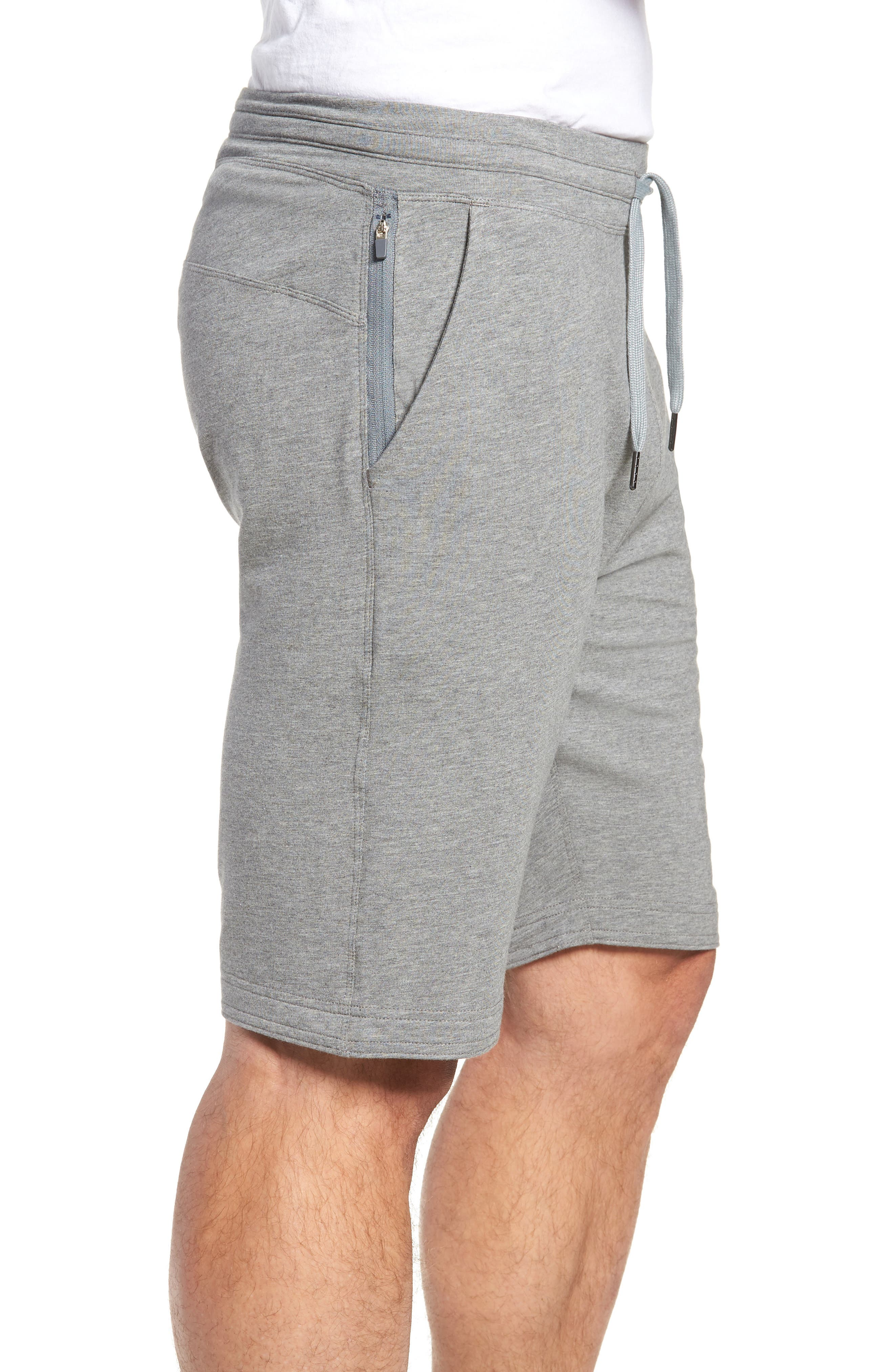 Legacy II Semi-Fitted Knit Athletic Shorts,                             Alternate thumbnail 3, color,                             HEATHER GRAY