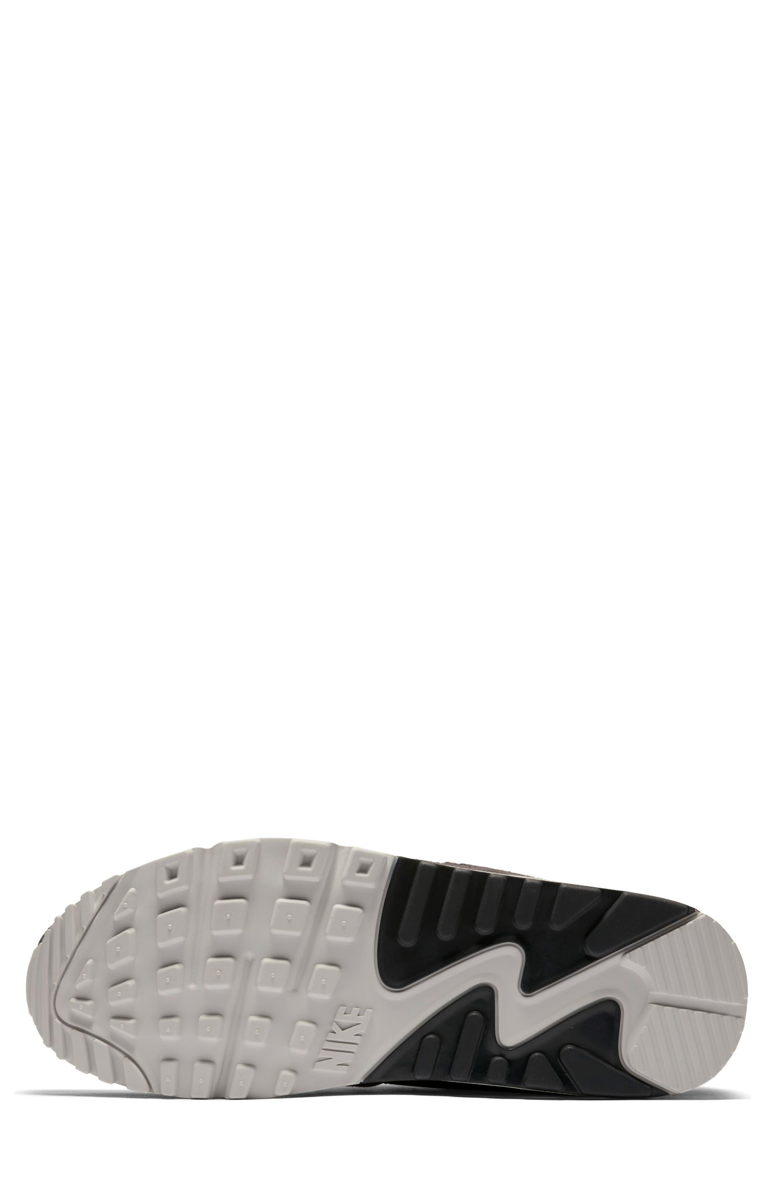 Air Max 90/1 Sneaker,                             Alternate thumbnail 5, color,                             RED SEPIA/ OIL GREY-VAST GREY
