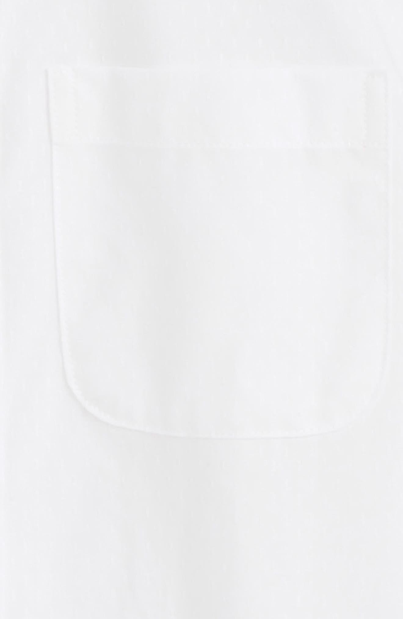 White Dobby Sport Shirt,                             Alternate thumbnail 2, color,                             100