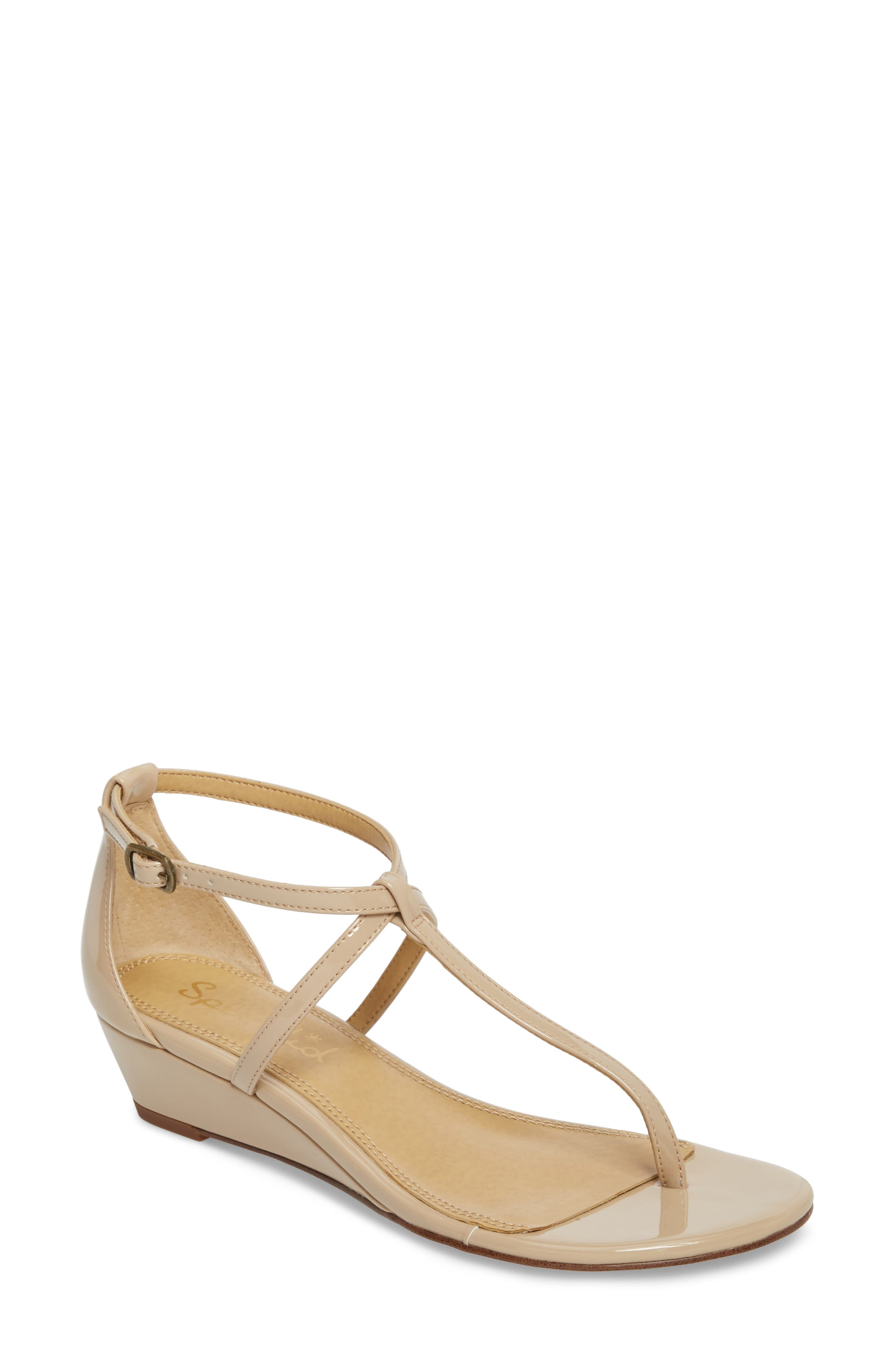 Bryce T-Strap Wedge Sandal,                             Main thumbnail 3, color,