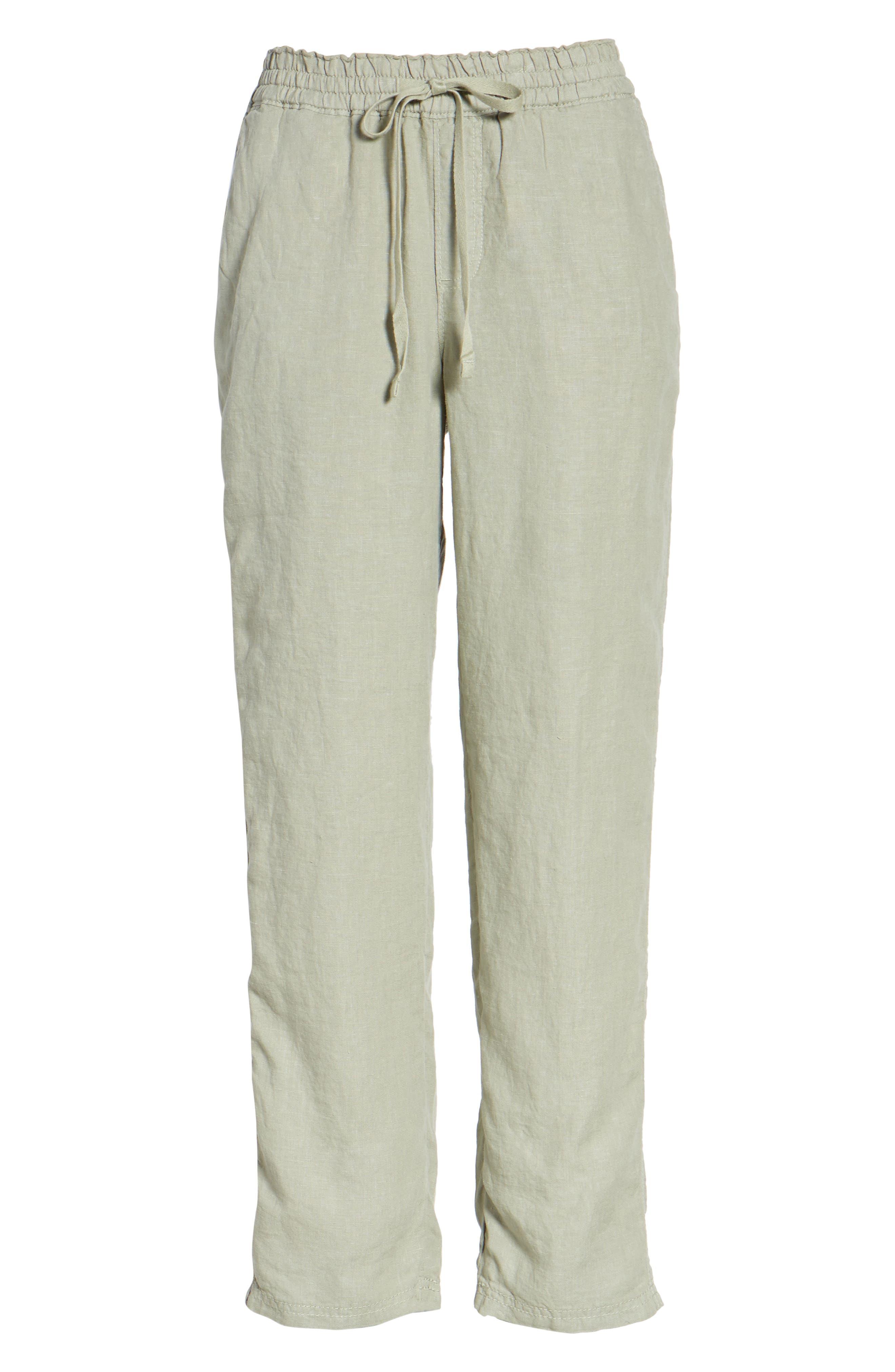 Linen Crop Pants,                             Alternate thumbnail 38, color,