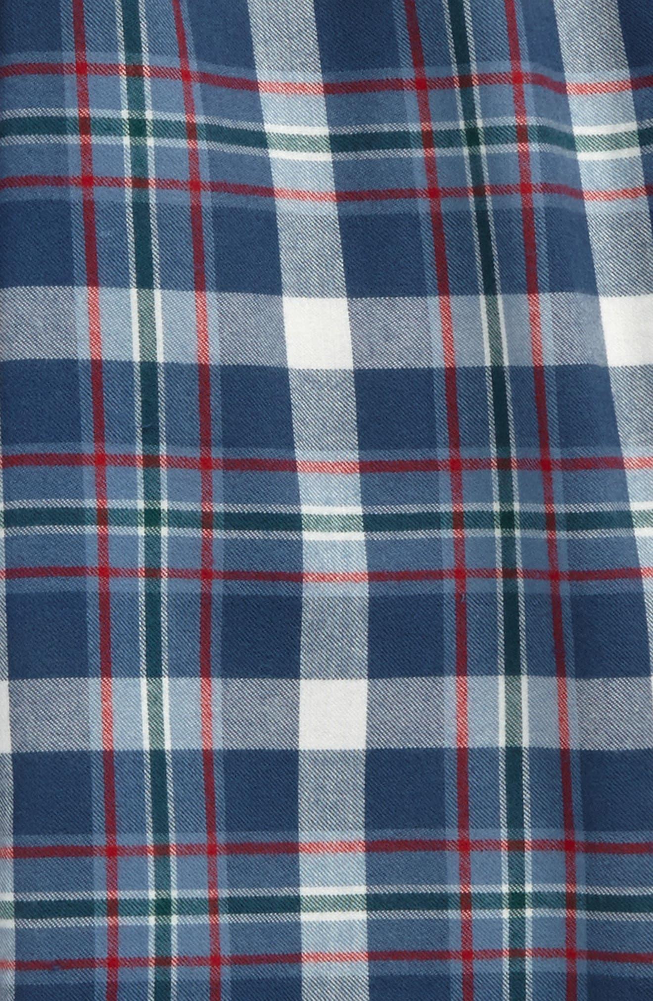Plaid Flannel Pants,                             Alternate thumbnail 18, color,