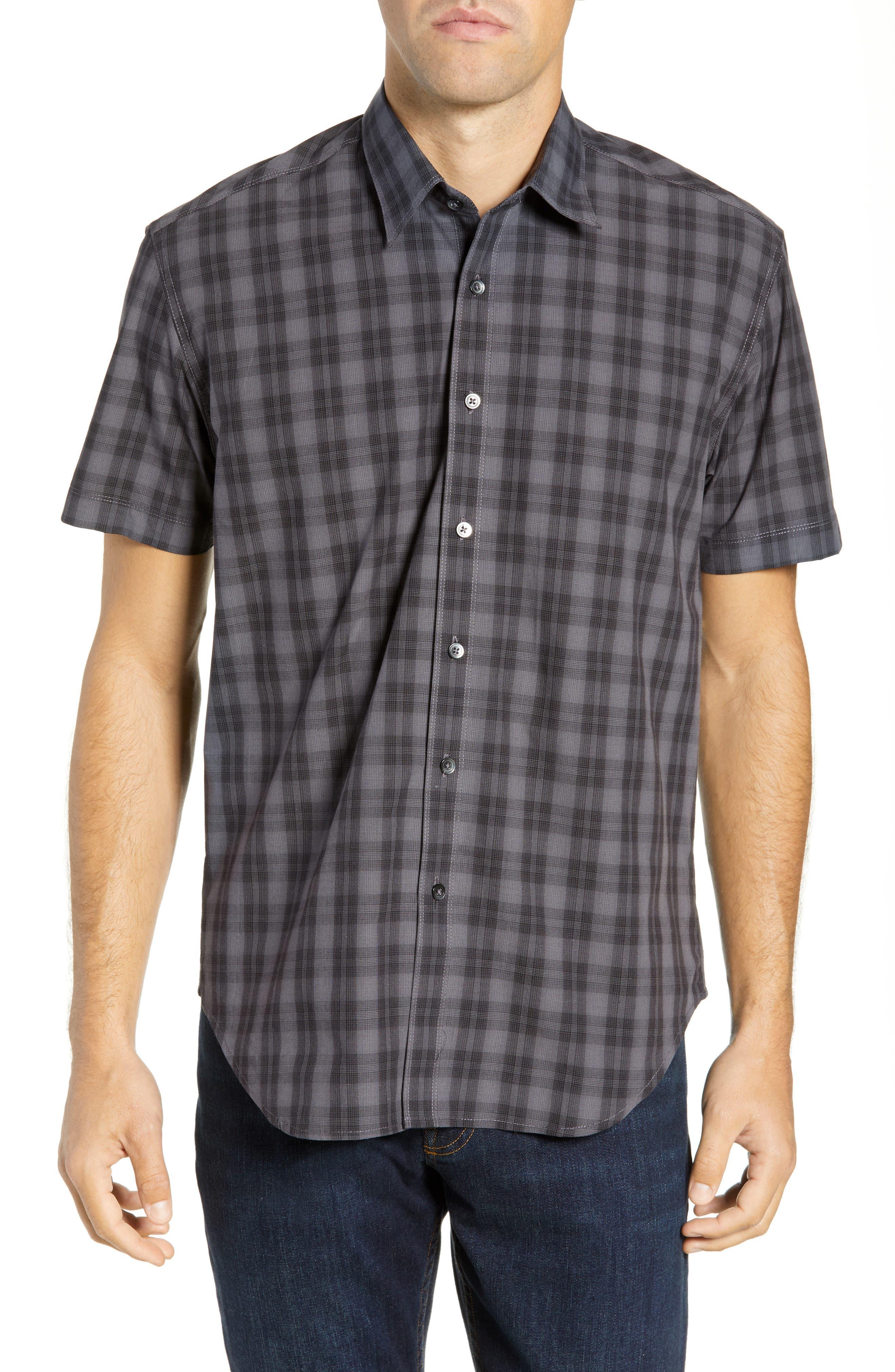 Coastaoro Blaya Regular Fit Short Sleeve Sport Shirt, Black