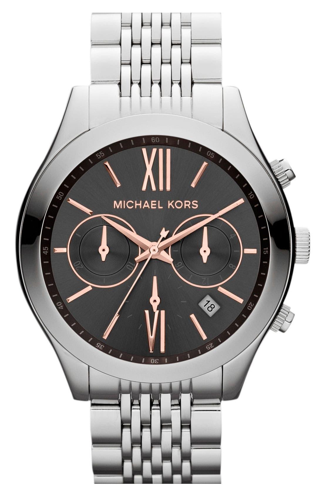 Michael Kors 'Brookton' Chronograph Bracelet Watch, 42mm,                             Main thumbnail 1, color,                             041