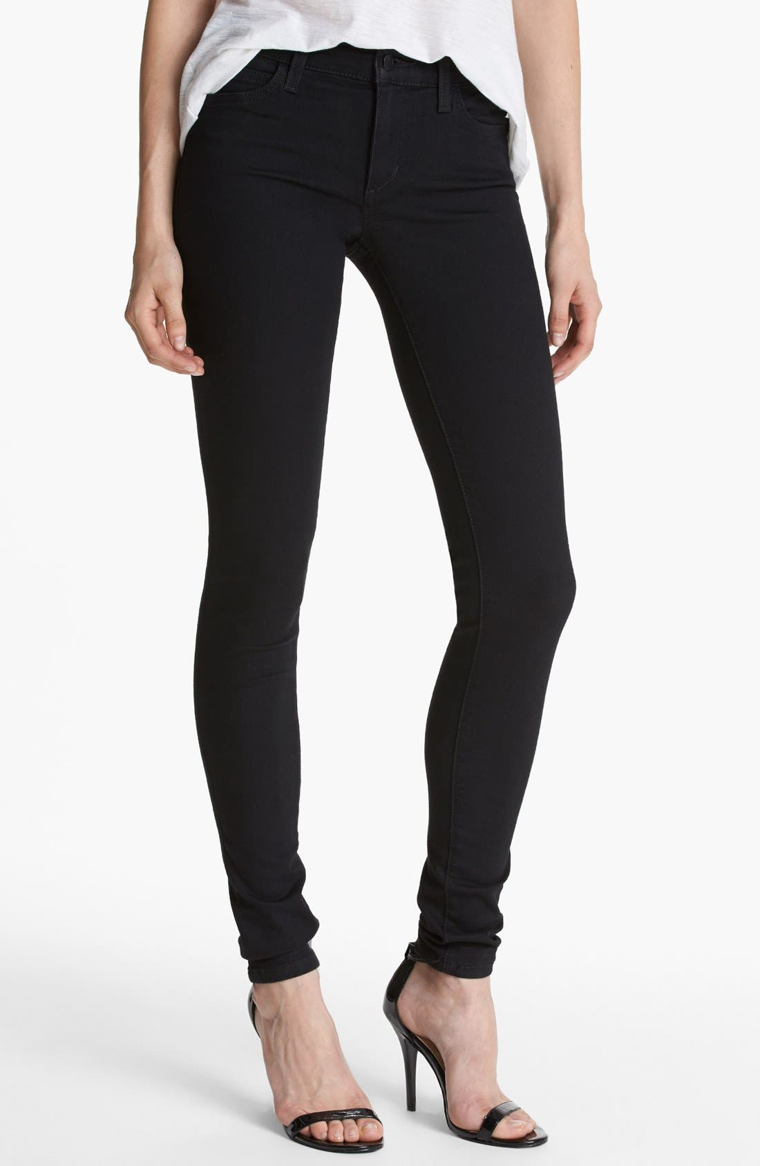 Skinny Stretch Jeans,                             Main thumbnail 1, color,                             001