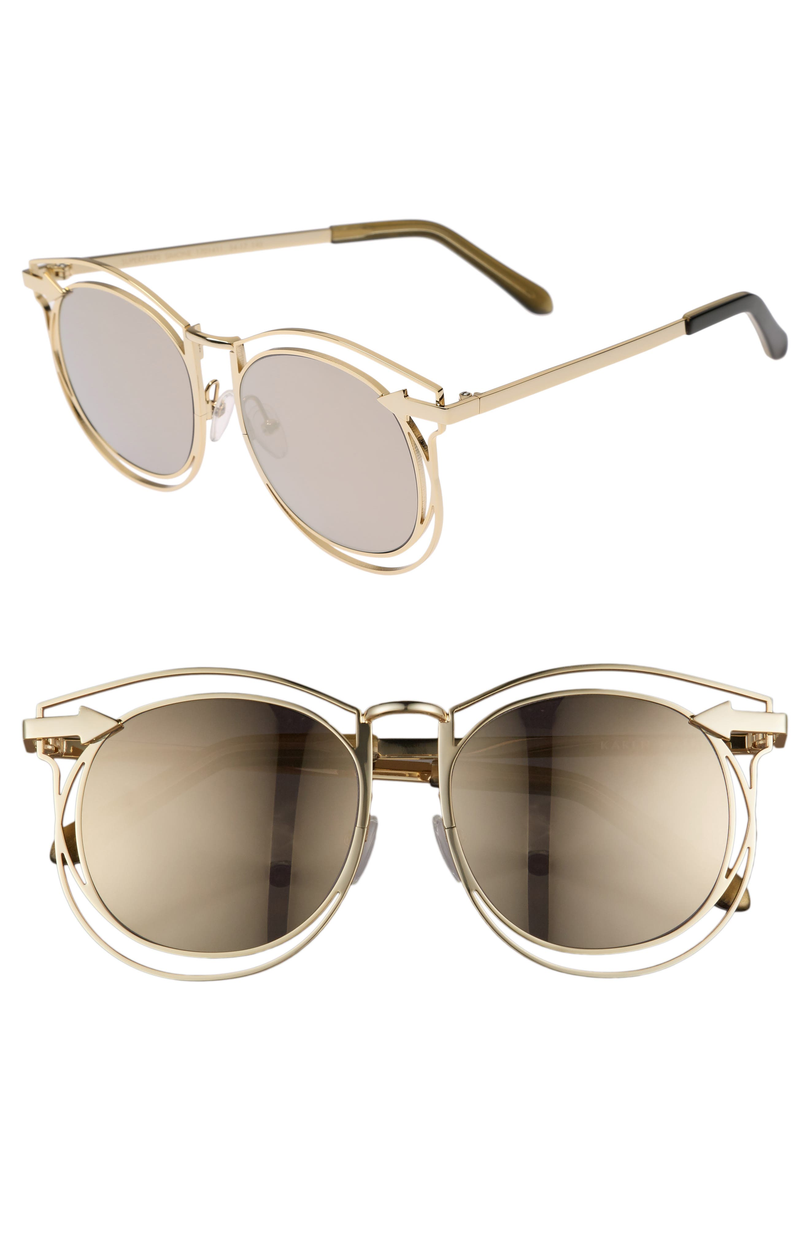 Superstars - Simone 54mm Sunglasses,                         Main,                         color, GOLD