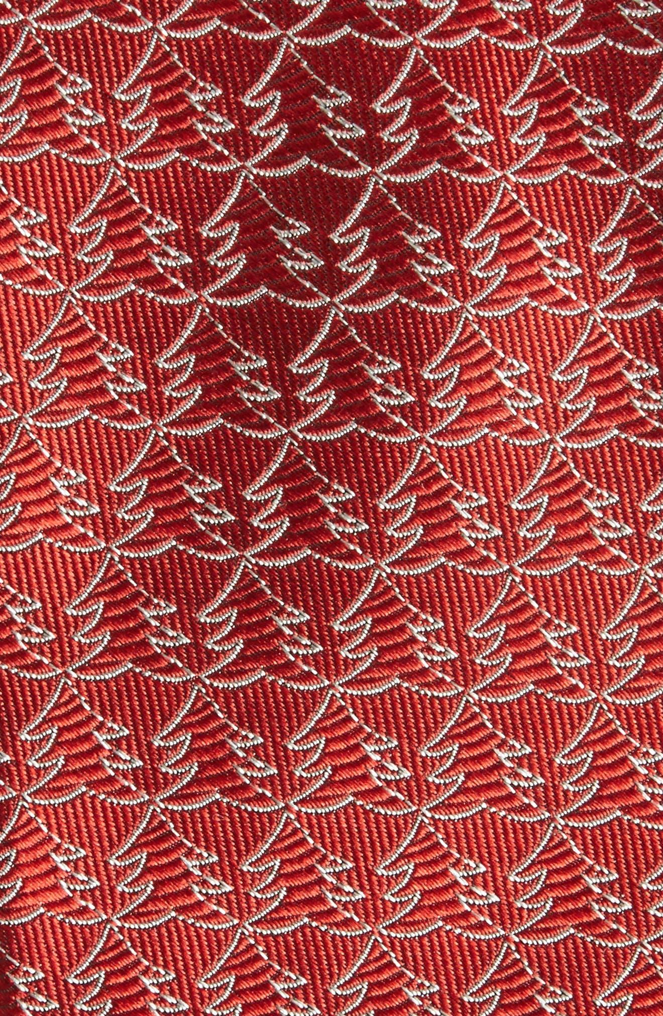 Christmas Tree Silk Tie,                             Alternate thumbnail 6, color,
