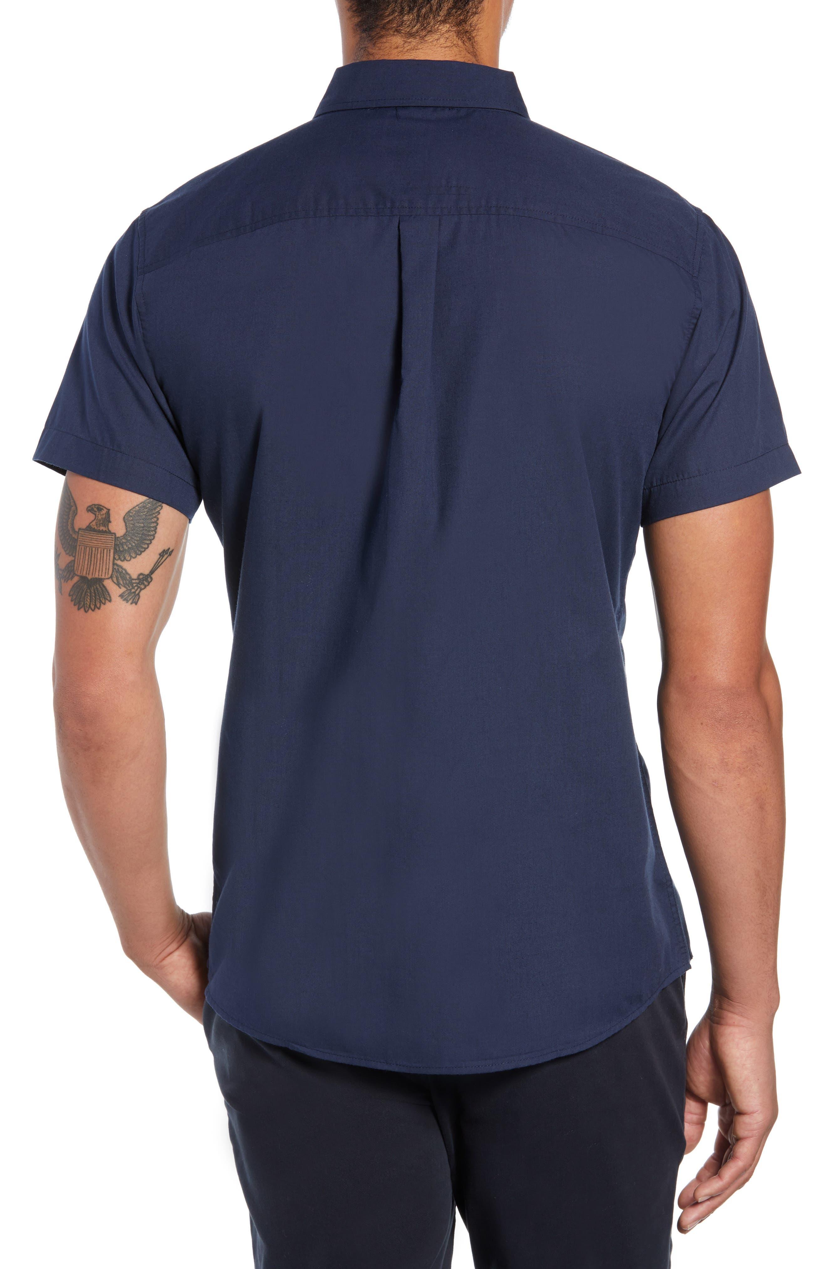 Howl Woven Shirt,                             Alternate thumbnail 2, color,                             NAVY